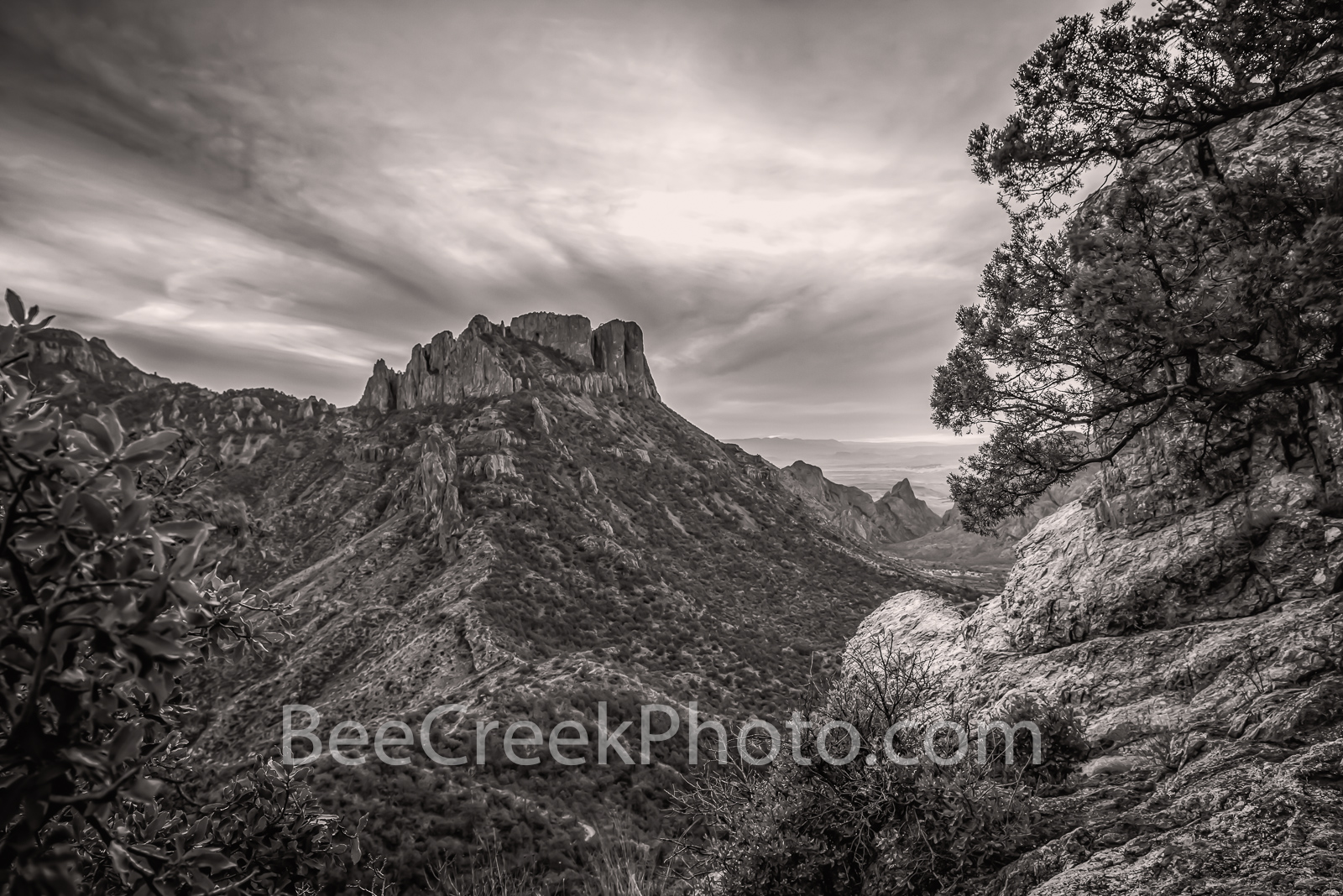 Lost Mine Trail B W - It was a perfect day when I left to climb the Lost Mine Trail in Big Bend National Park but by the time...
