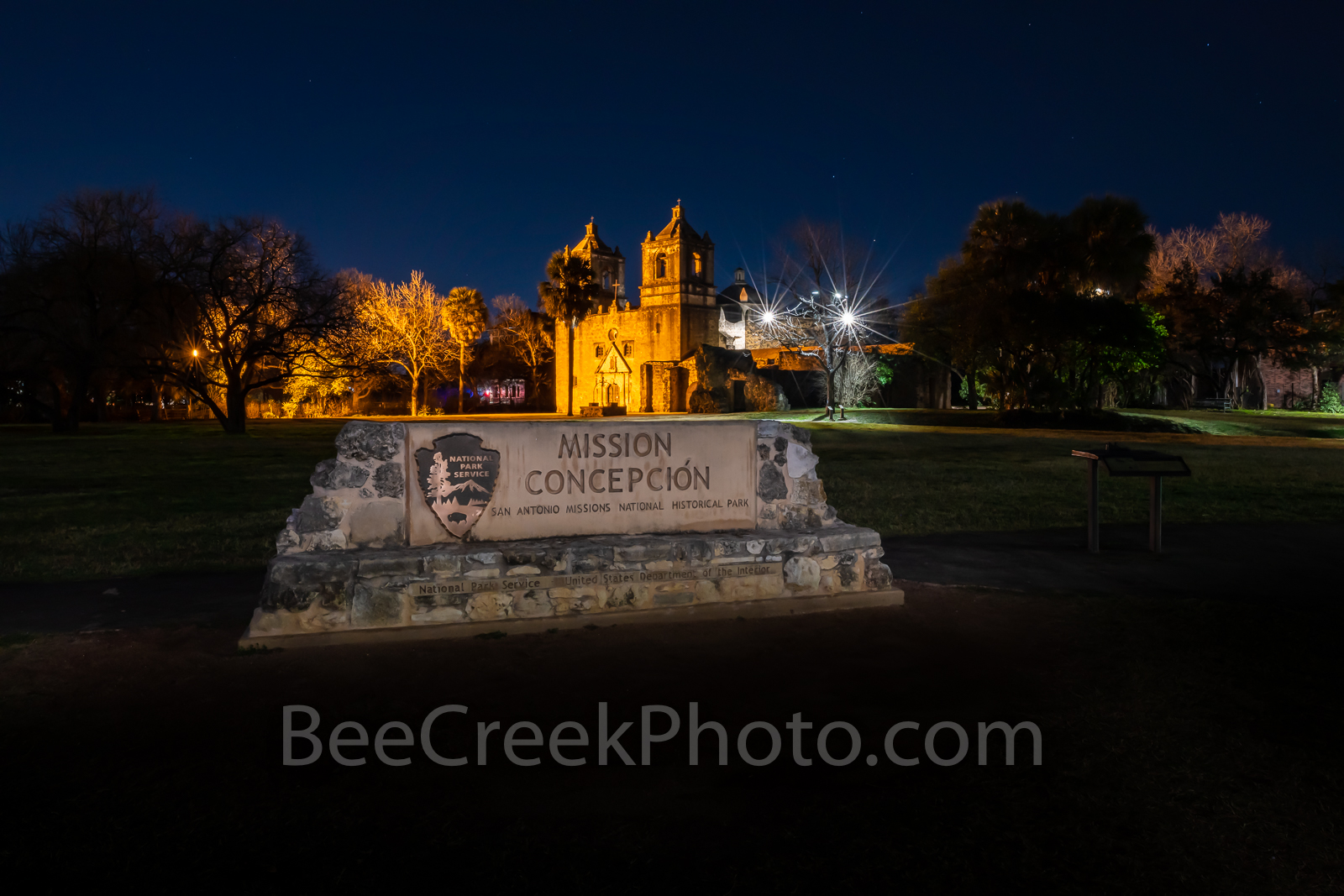 Concepción, Mission Concepción, San Antonio, night, spanish missions, indians, landmark, historic, downtown, skies, texians, mexicans, Texas missions, National Historic Landmarks, world heritage site,, photo