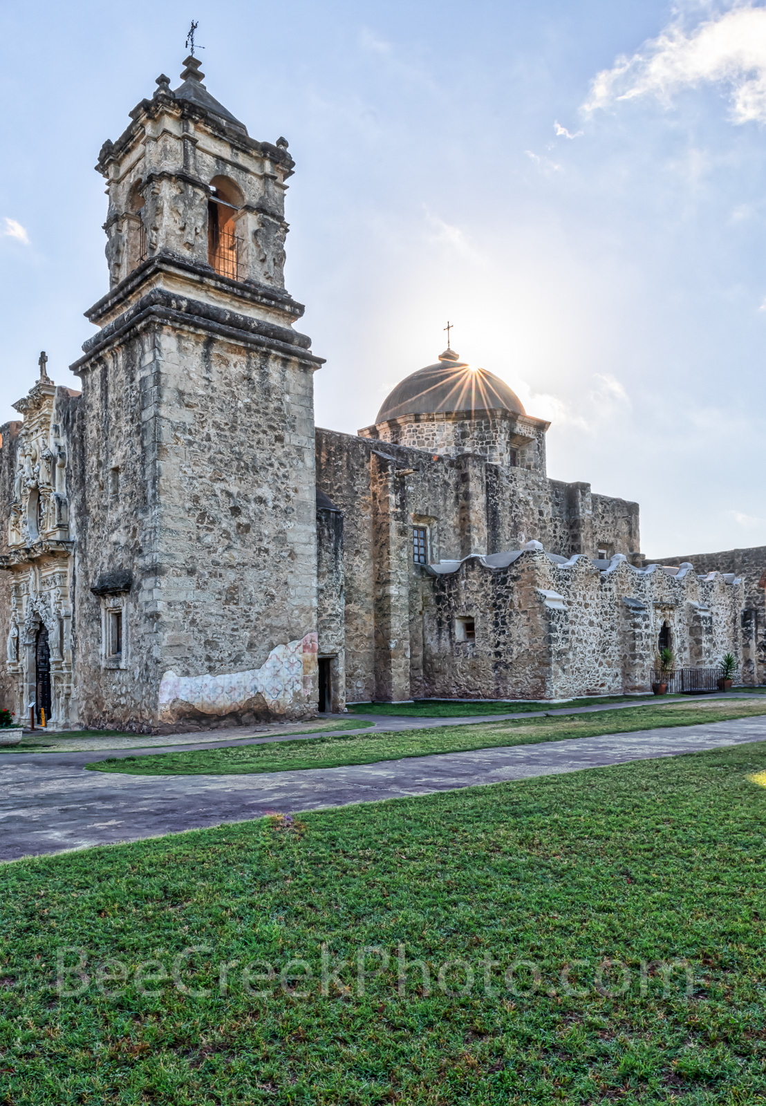 Mission San Jose, San Antonio Missions National Historical Park, church, vertical, Coahuiltecan tribe, indians, San Antonio, spanish missions, landmark, historic, color, downtown, texians, mexicans, t, photo