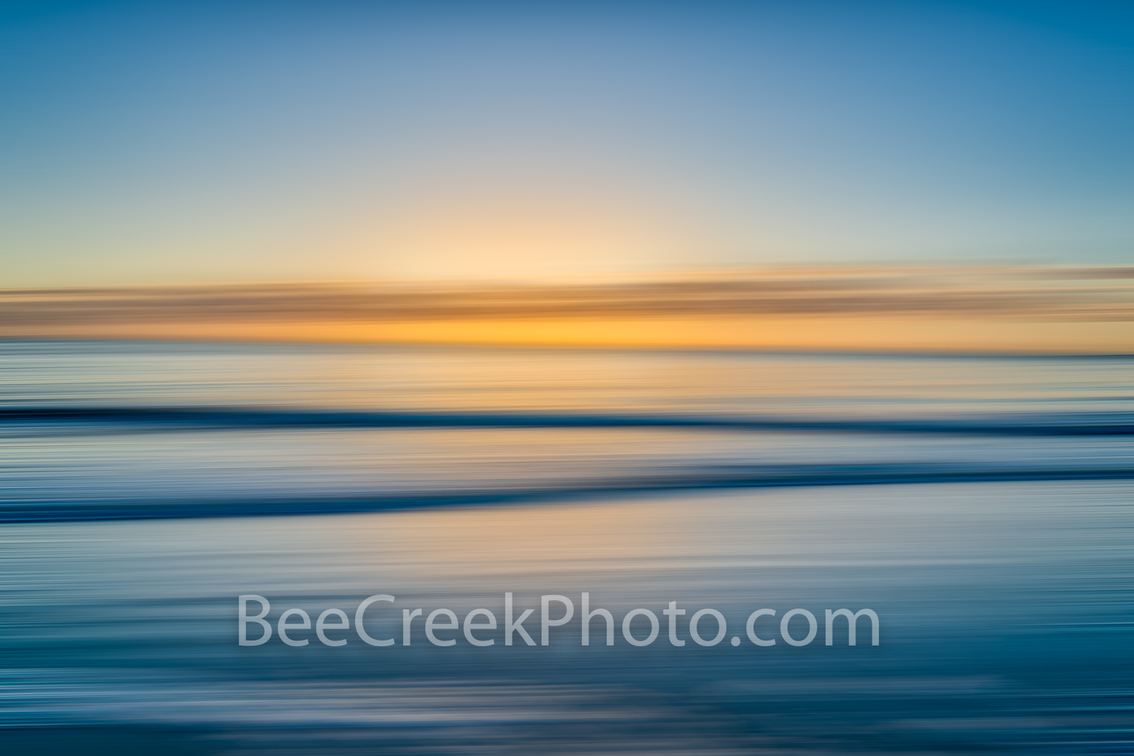Ocean Blue Abstract - Sunrise over ocean waves as a digital abstract with this long exposure effect. We capture this image and...