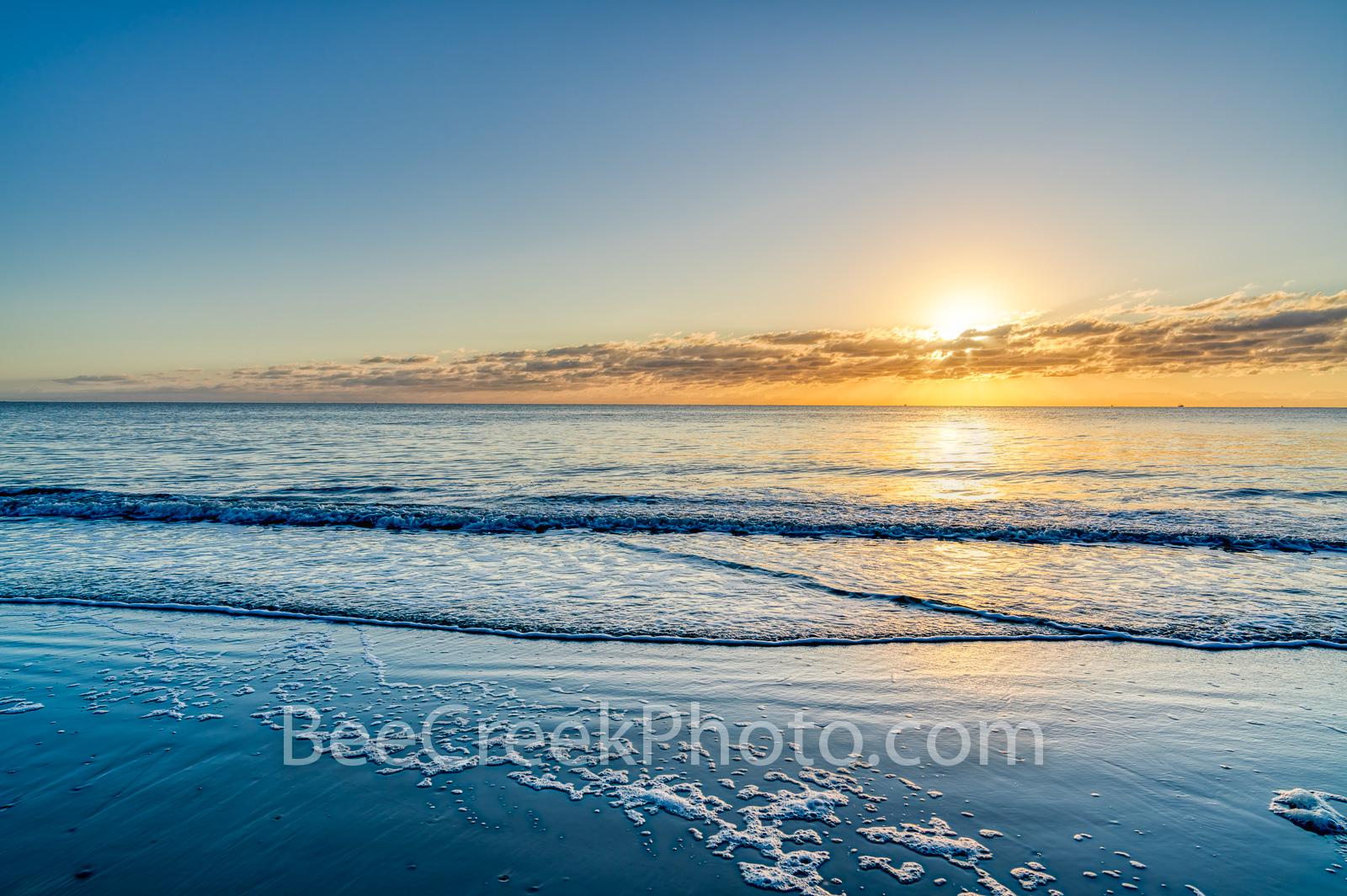 beach scene, seascape, sea and sand, golden glow, beach , ocean, waterscape, surf, tide, ocean scene, beach scenery, beach, beaches, georgia beach, alantic ocean,  beach sunrise, blue water, georgia c, photo