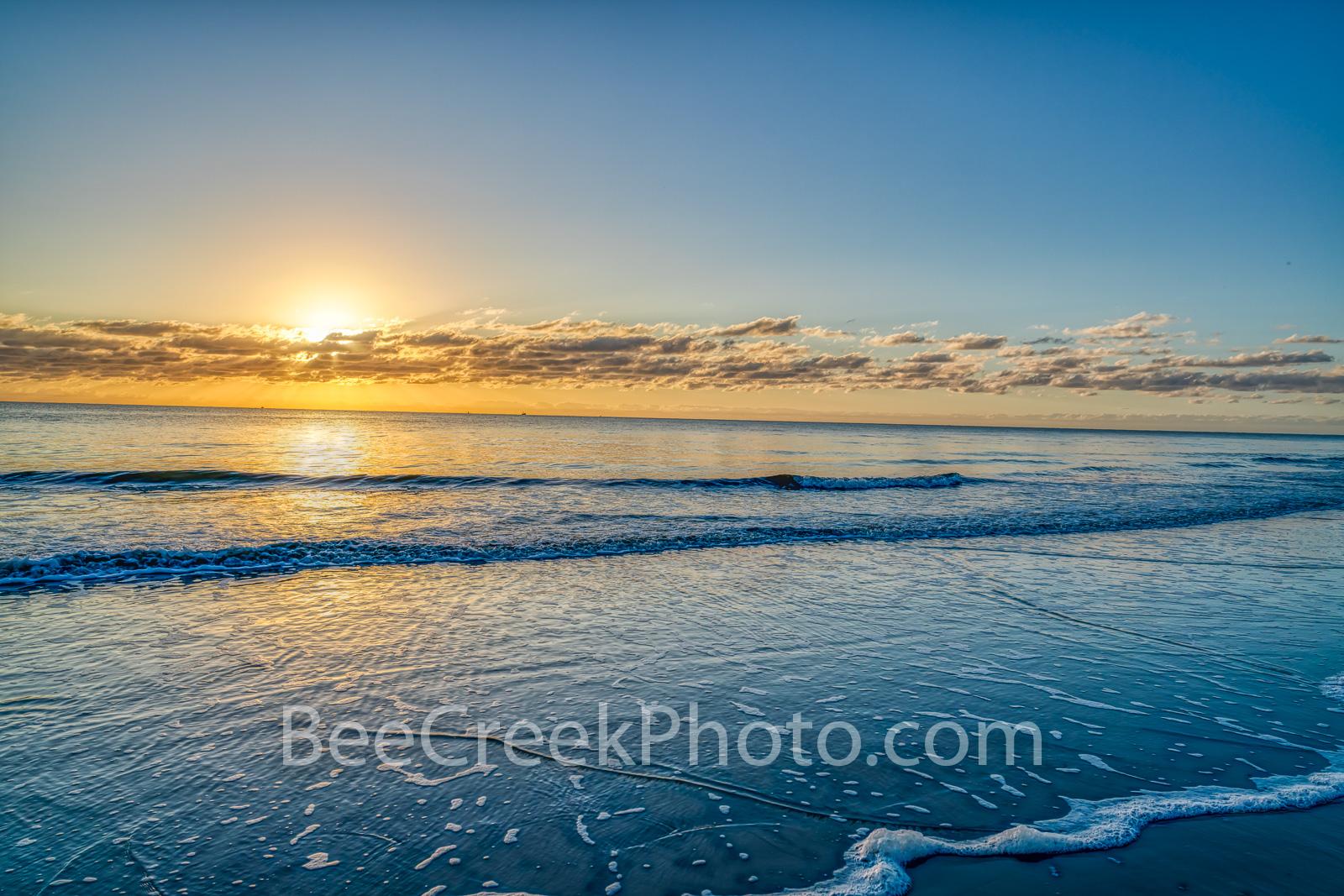 beach, seascape, sea and sand, golden glow, sandy beach, morning, ocean, waterscape, surf, tide, ocean scene,  beach scenery, beach, georgia, alantic ocean, southern usa, beach sunrise, , photo