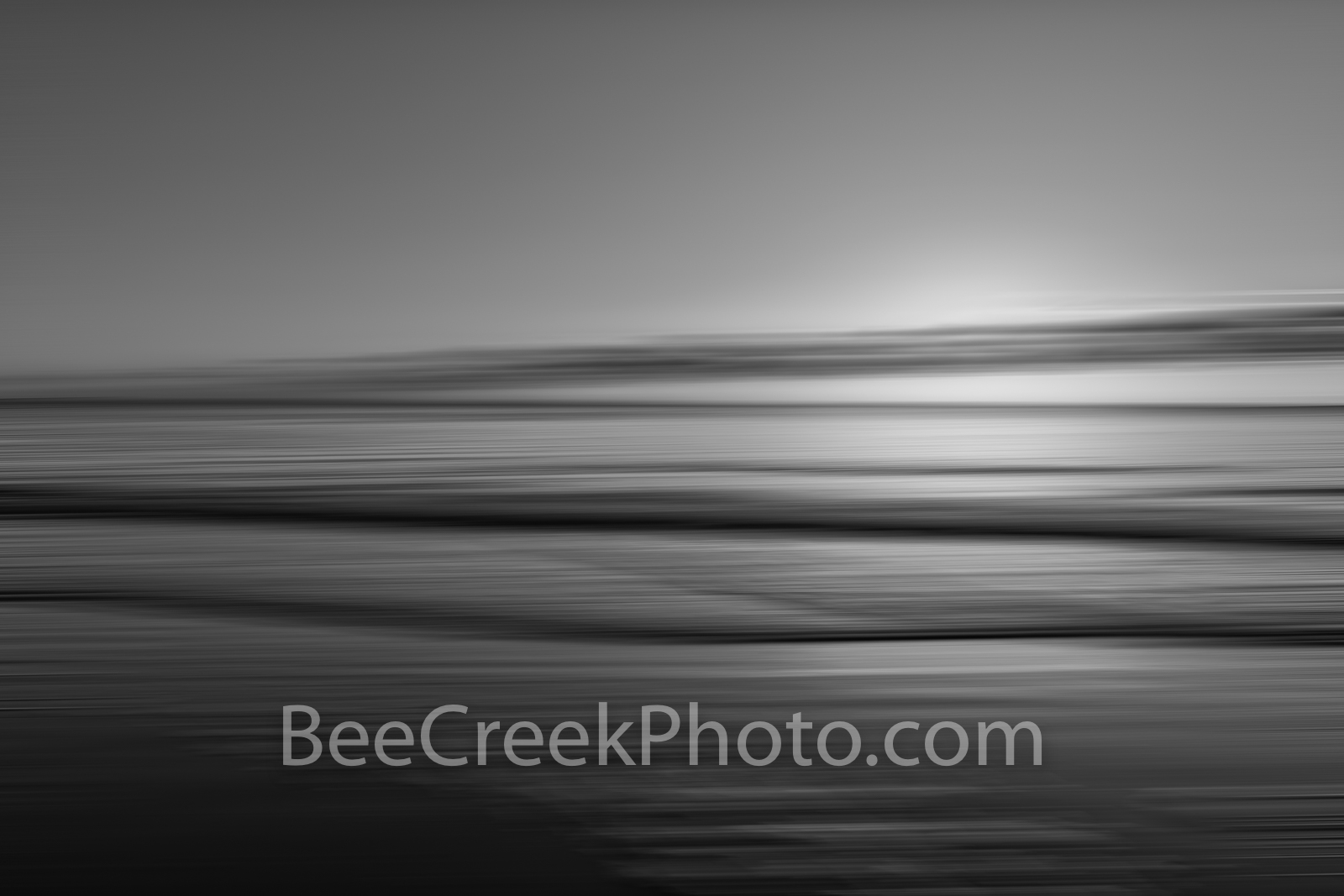 Ocean Wave Abstract BW - Ocean waves as a long exposure blur as a digital abstract in black and white. Digital art which creates...
