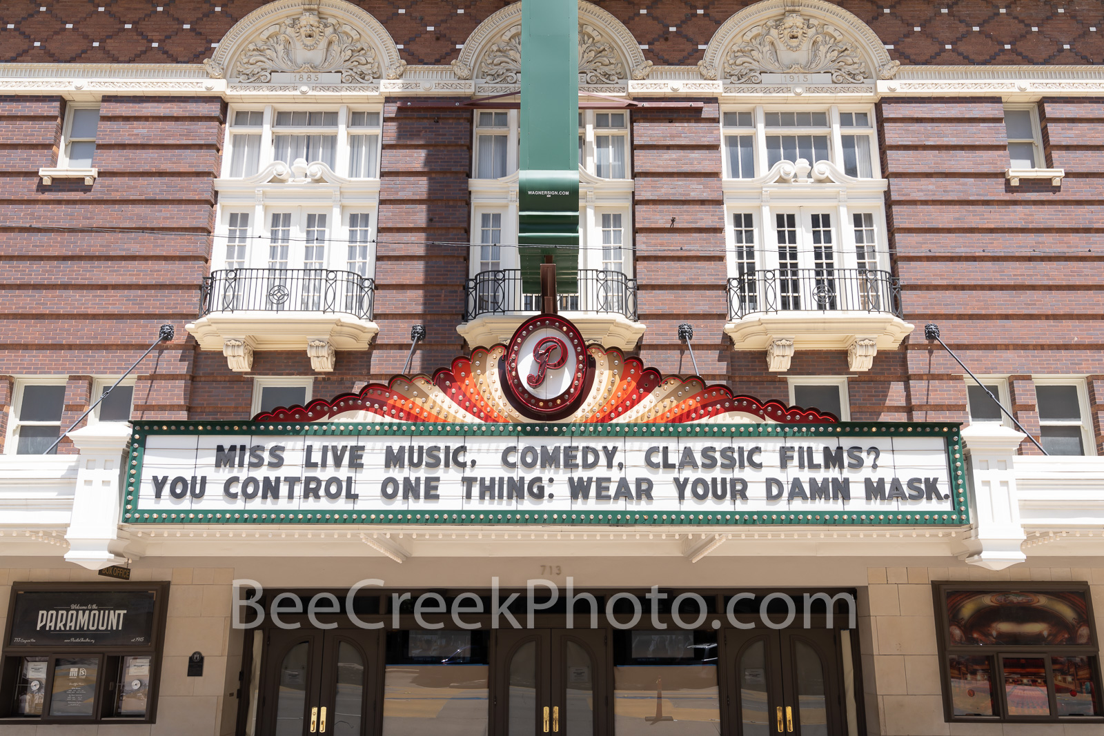 Paramount Theatre Marquee - The Paramount Theatre is a live theatre venue/movie theatre located in downtown Austin, Texas. The...