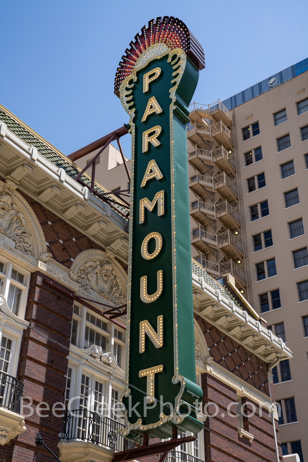 Paramount Theatre Sign Vertical 2 - The Paramount Theatre is a live theatre venue/movie theatre located in downtown Austin, Texas...