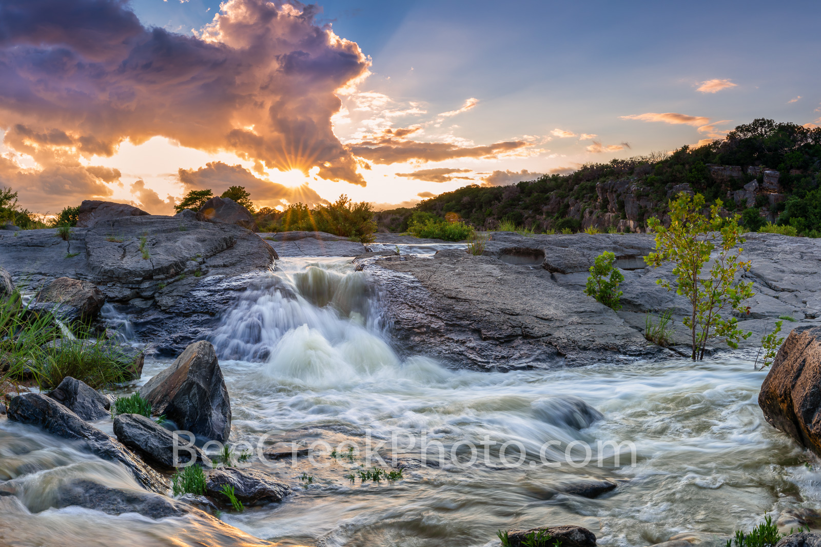 Pedernales Falls - We have had an excess of rain this spring and June was no exception so a trip to the pedernales river was...