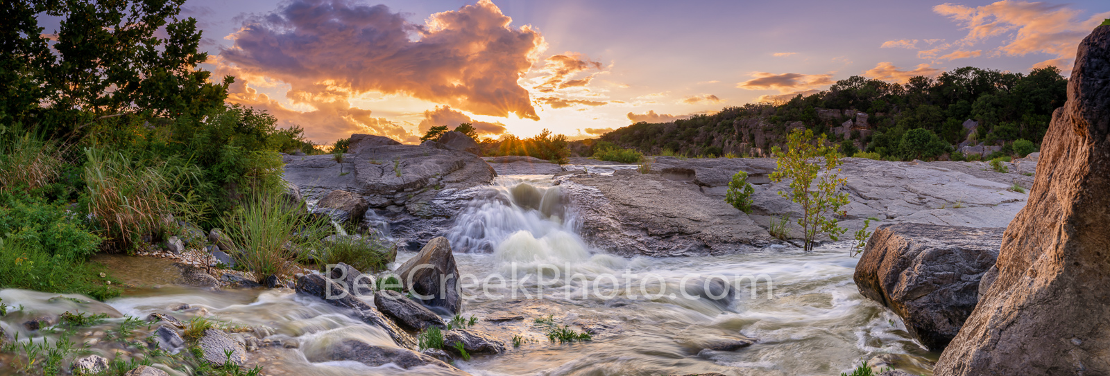Pedernales Falls Panorama - Pedernales Falls located in the Texas Hill country in Blanco county near Johnson City. We have had...