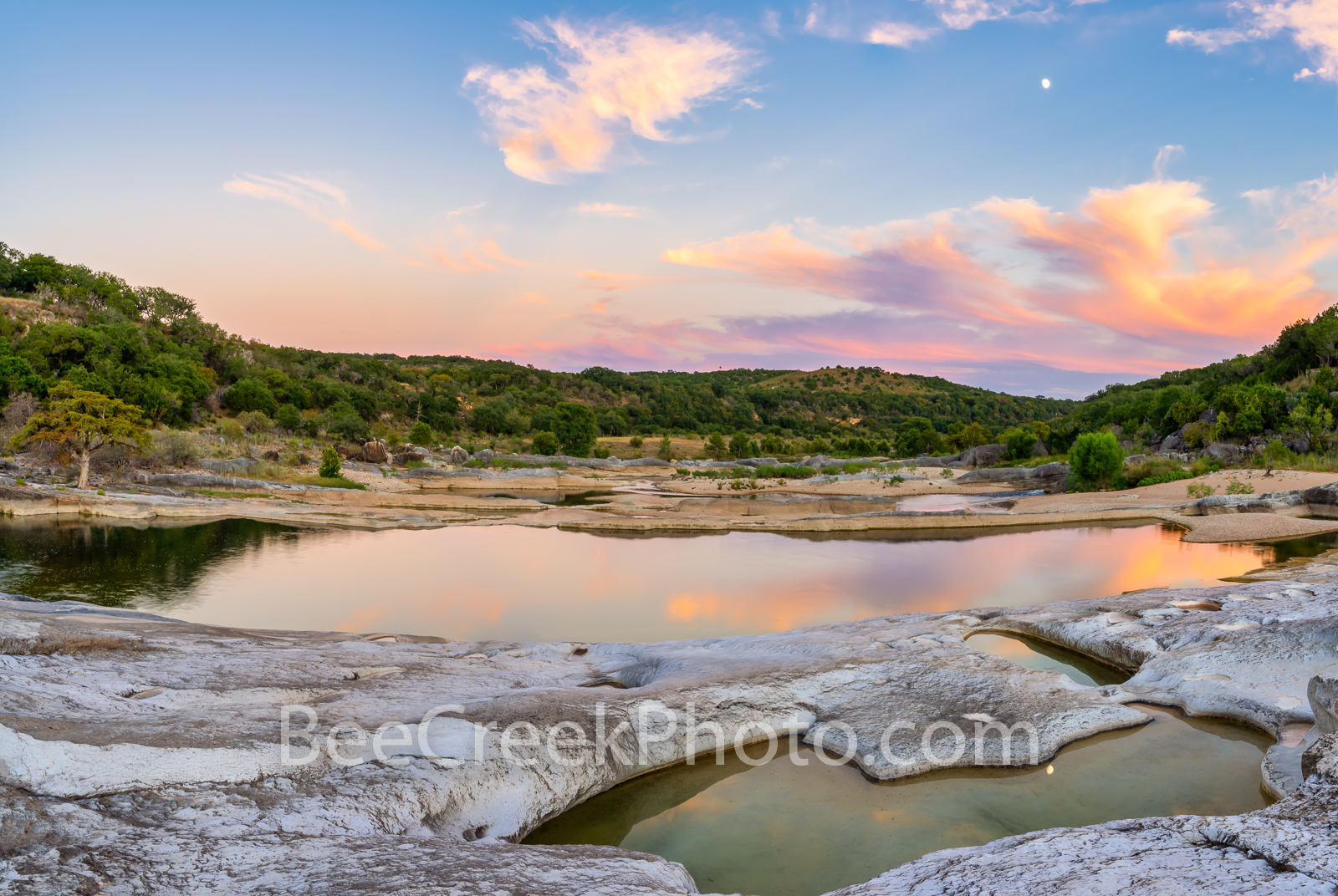 Pedernales Falls Sunset Reflections -  We  made a trip back to the pedernales falls state park in the Texas hill country and...