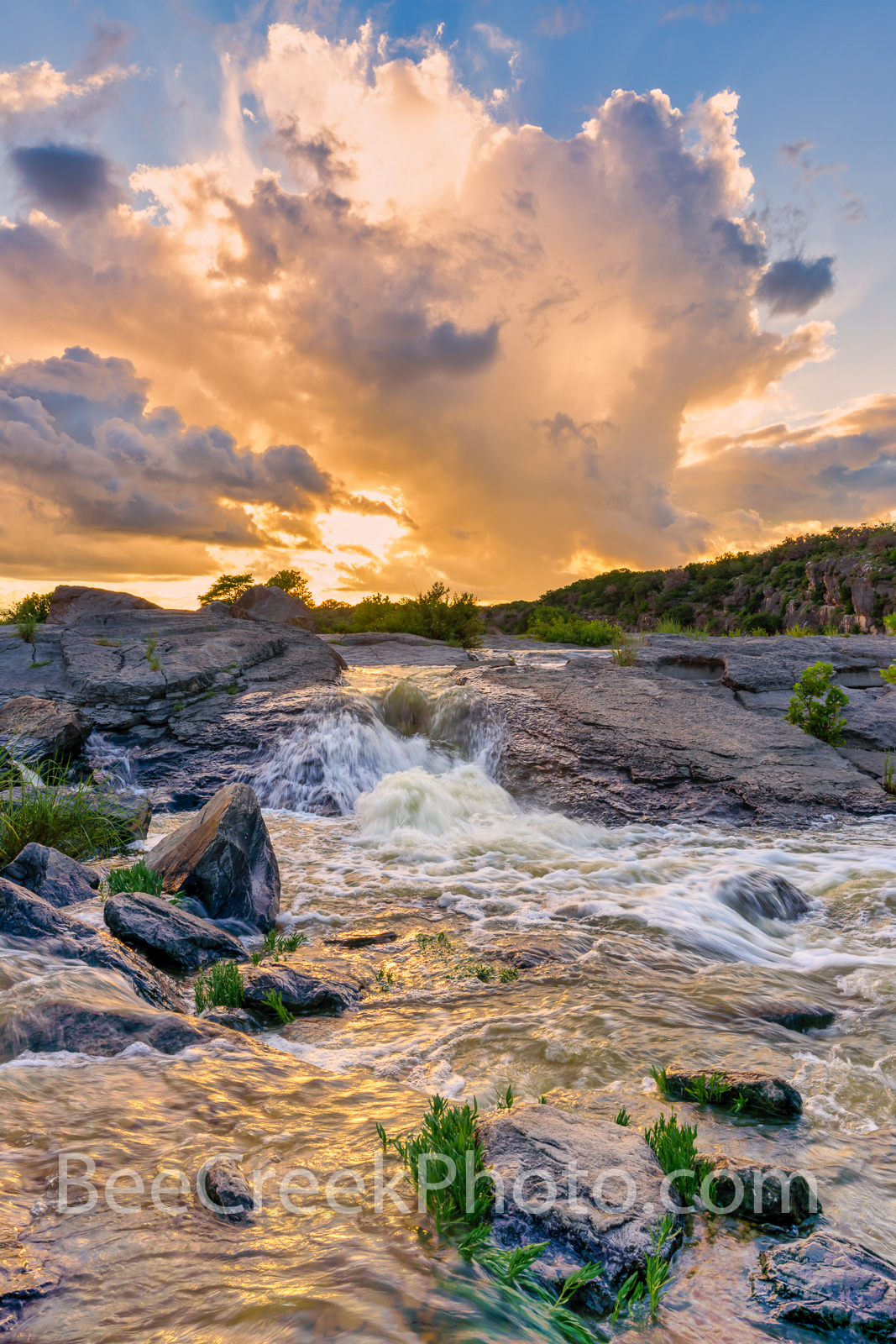 Pedernales Falls Vertical - We have had an excess of rain this spring and June was no exception so a trip to the pedernales river...