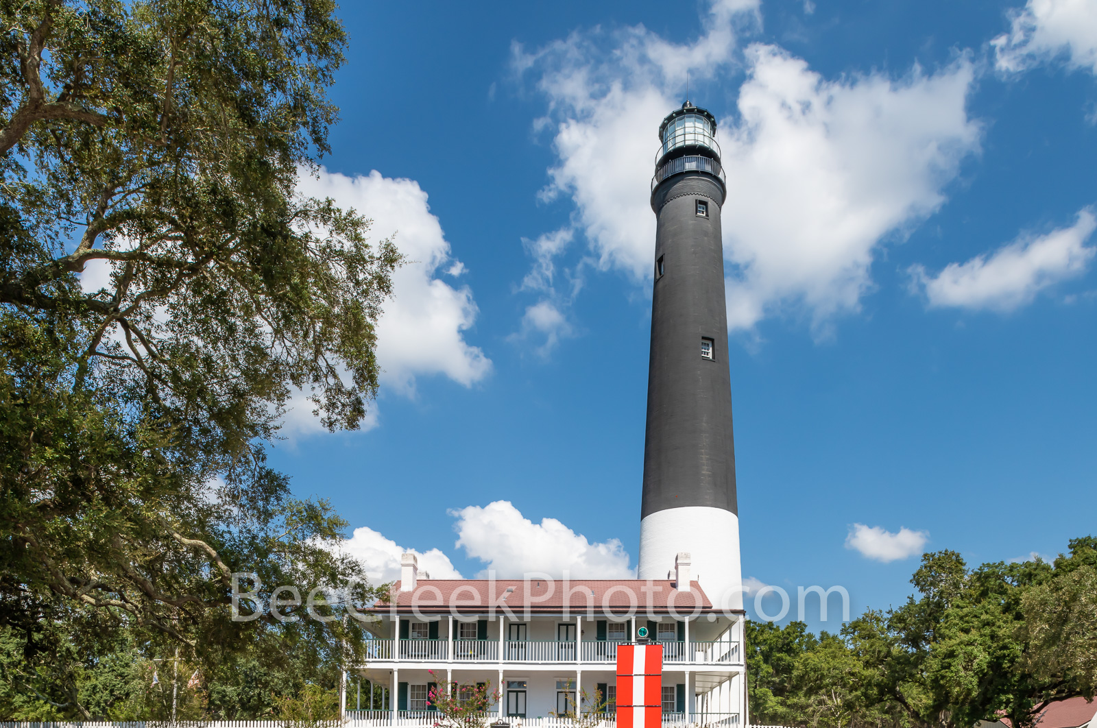 Pensacola Lighthouse 2 -  This is a capture of the Pensacola Lighthouse with the keepers dwelling which is now a museum and gift...