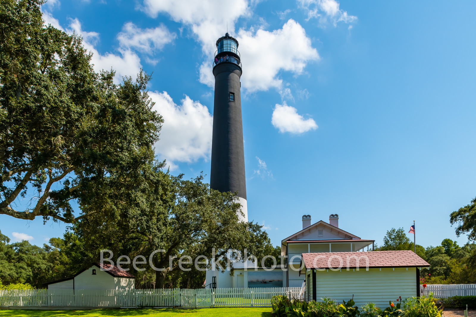 Pensacola Lighthouse and Keepers Dwelling -  This is a capture of the Pensacola Lighthouse with the keepers dwelling which is...