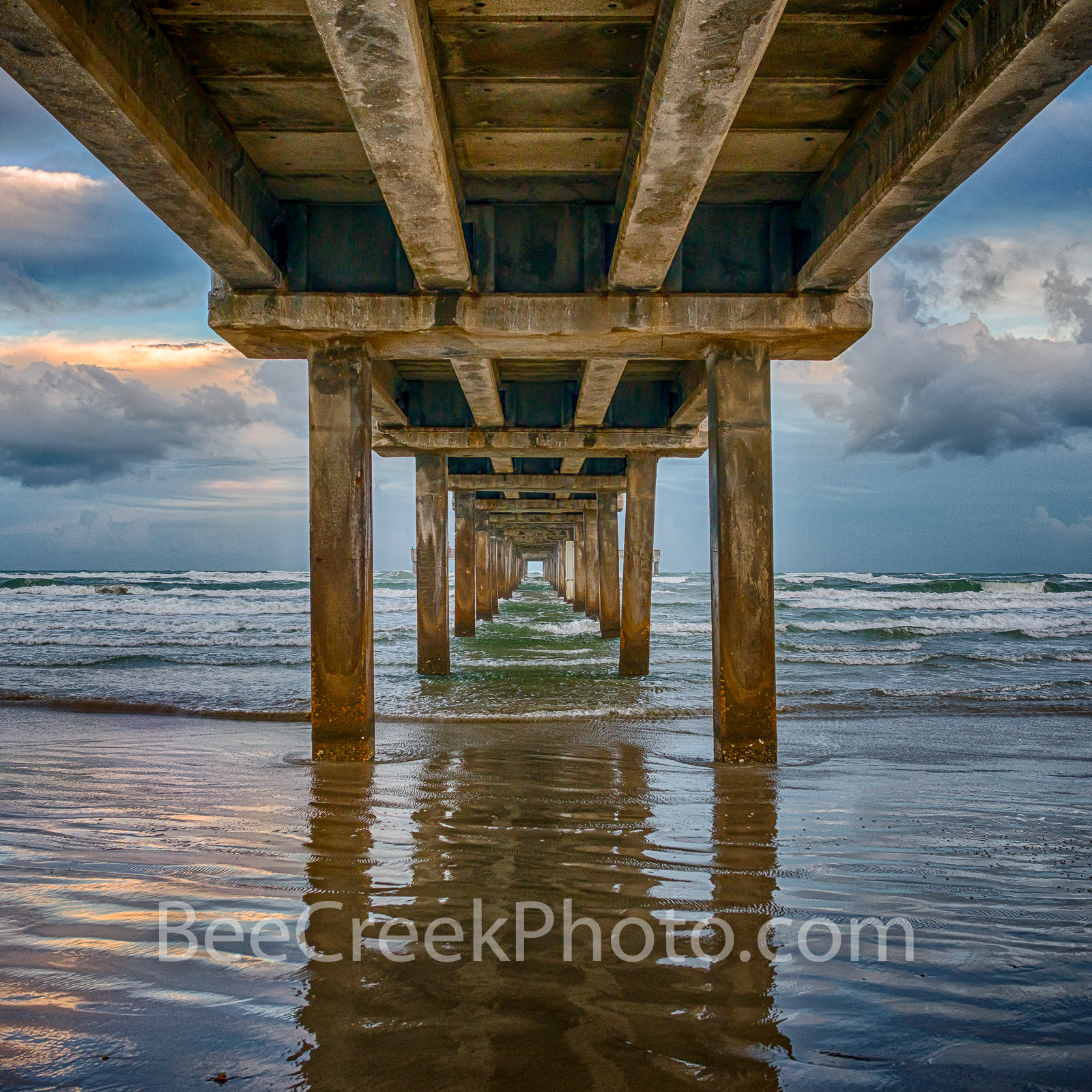 Pier before the Storm 2 - Took this shot as a tropical storm was approaching along the texas coast in Port Aransas and was creating...