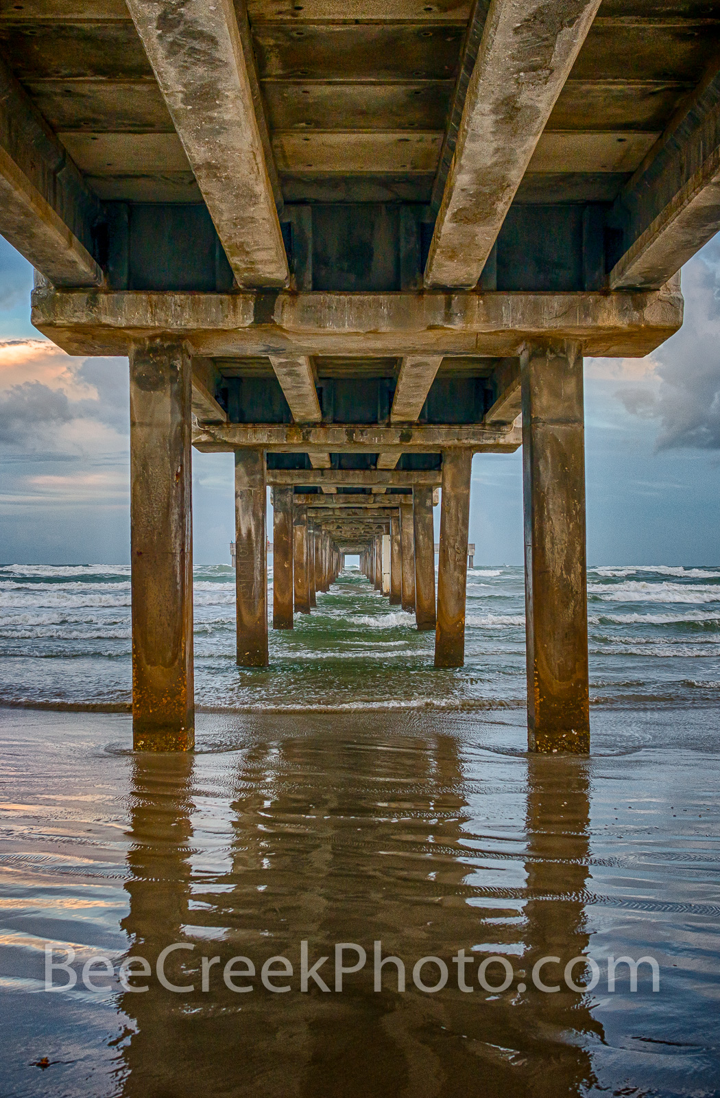 Pier before the Storm Vertical - Took this shot as a tropical storm was approaching along the texas coast in Port Aransas and...