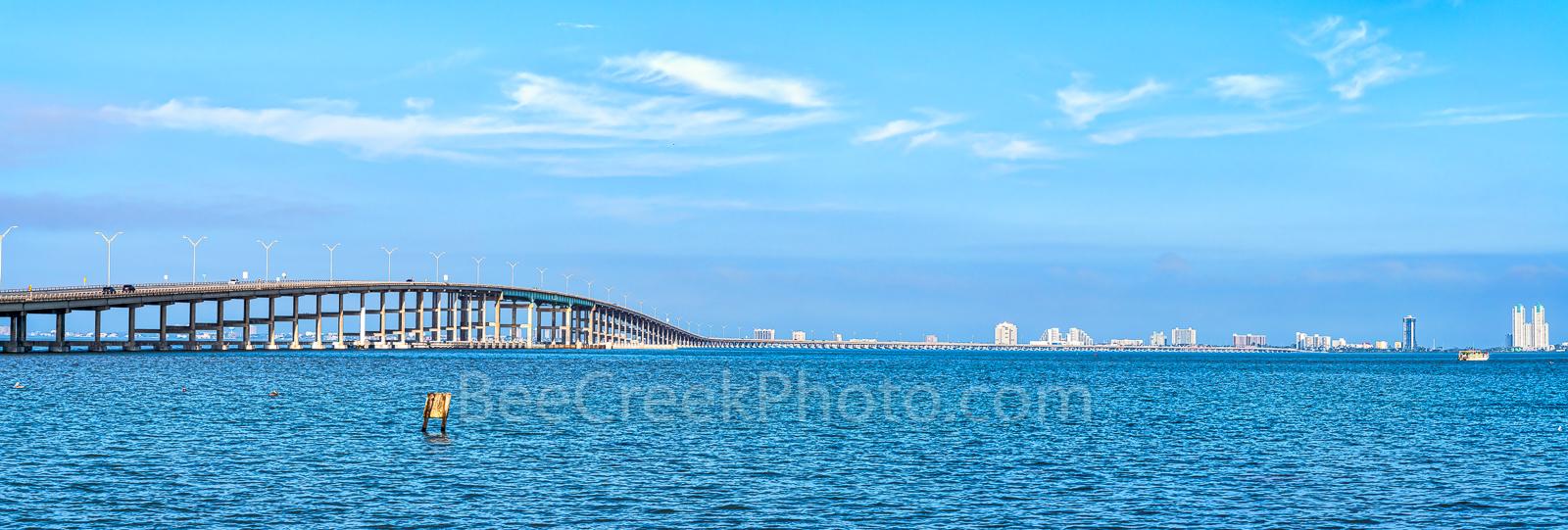 Queen Isabella Bridge, South Padre island, south padre, pano, panorama, bridge, landmark,, photo