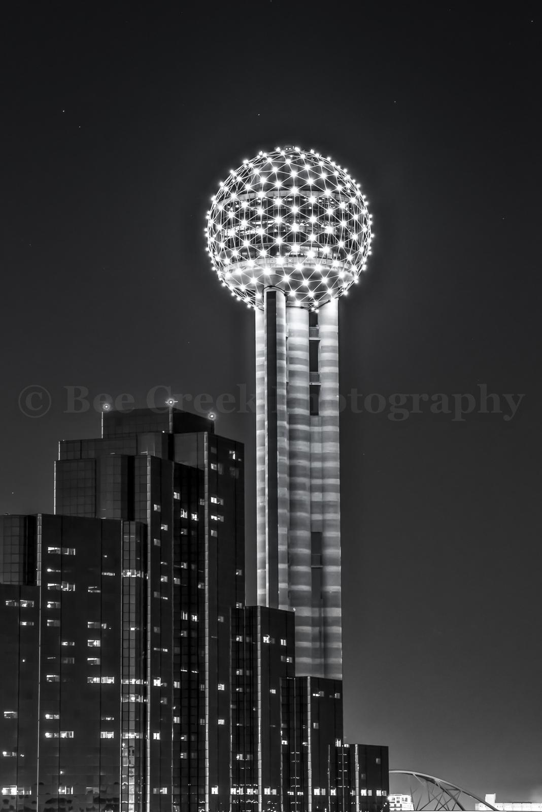 Dallas, Hyatt Regency, Reuion Tower, city, cityscape, cityscapes, night, scene, urban, photo