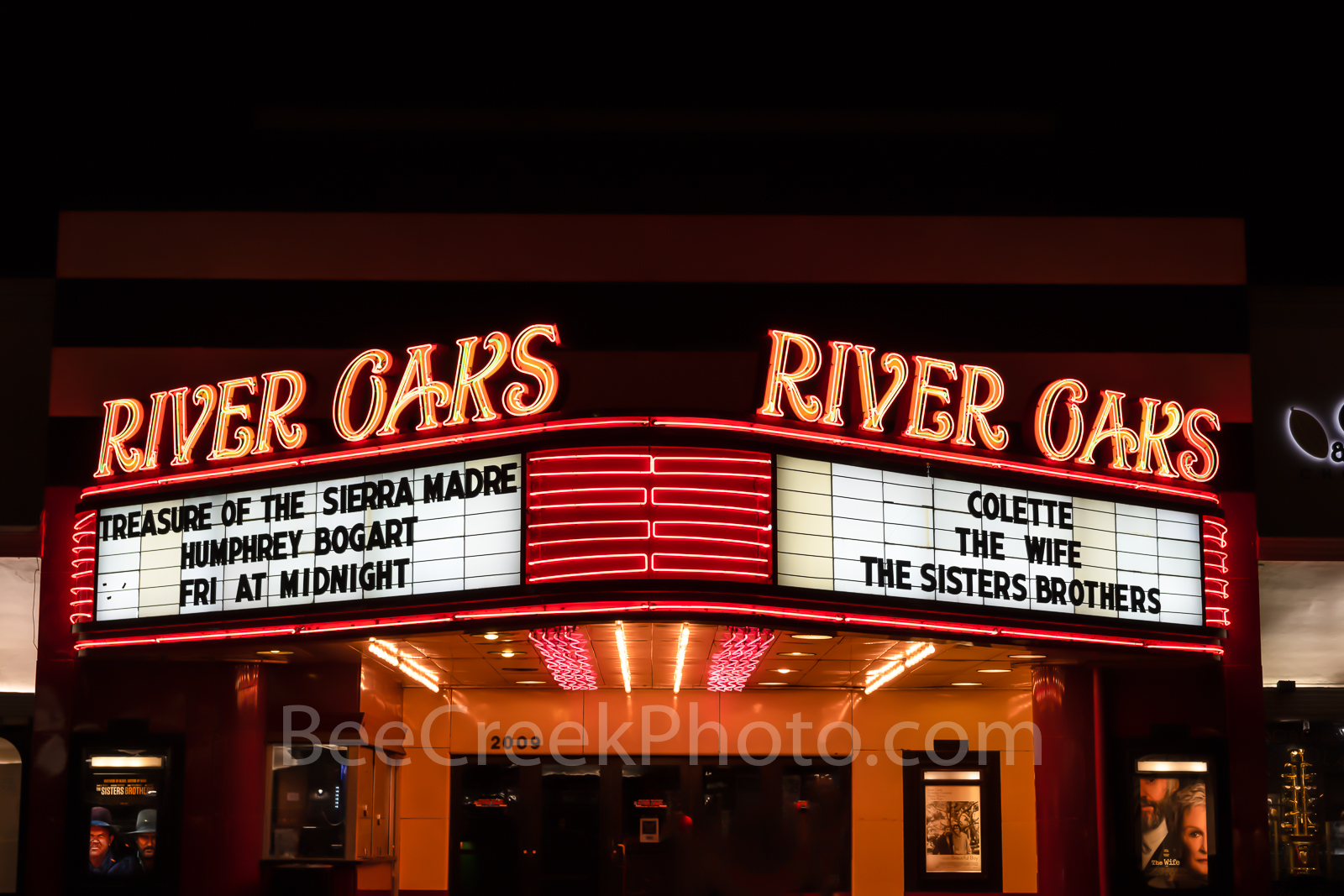 River Oaks Movie Theater, Houston, River Oaks shopping center, historic, landmark, cityscape,, photo