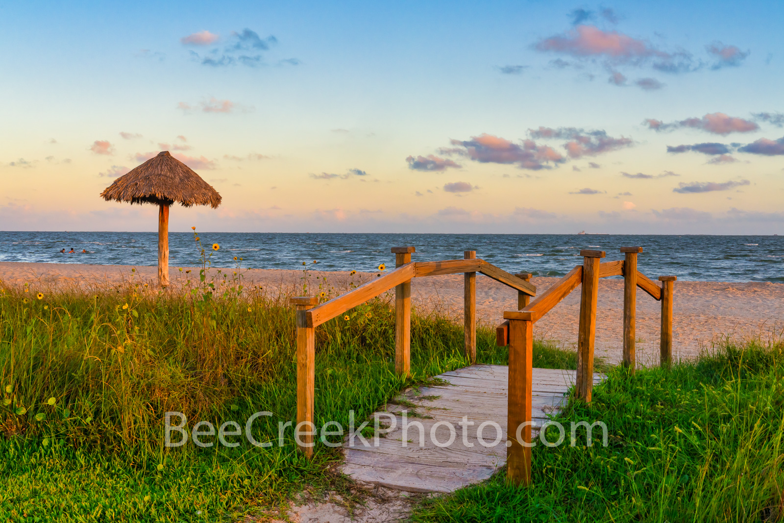 Rockport Beach Sunset - Texas Coast - This park is in Rockport Texas which is a lovely place to enjoy the beach and with this...