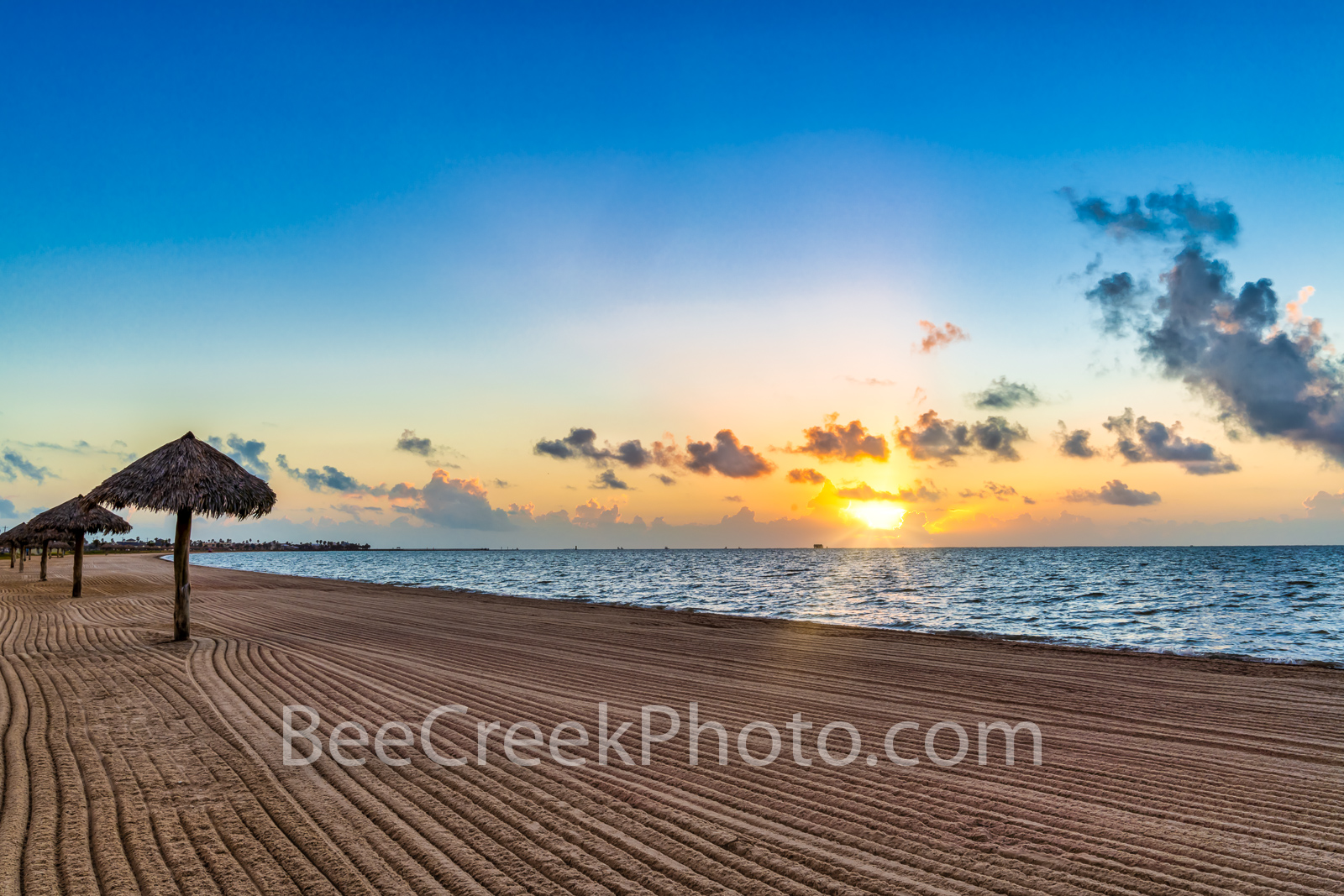 Rockport Texas Beach Sunrise Glow - Love the Rockport Beach park located along the gulf of mexico with it freshly combed beach...