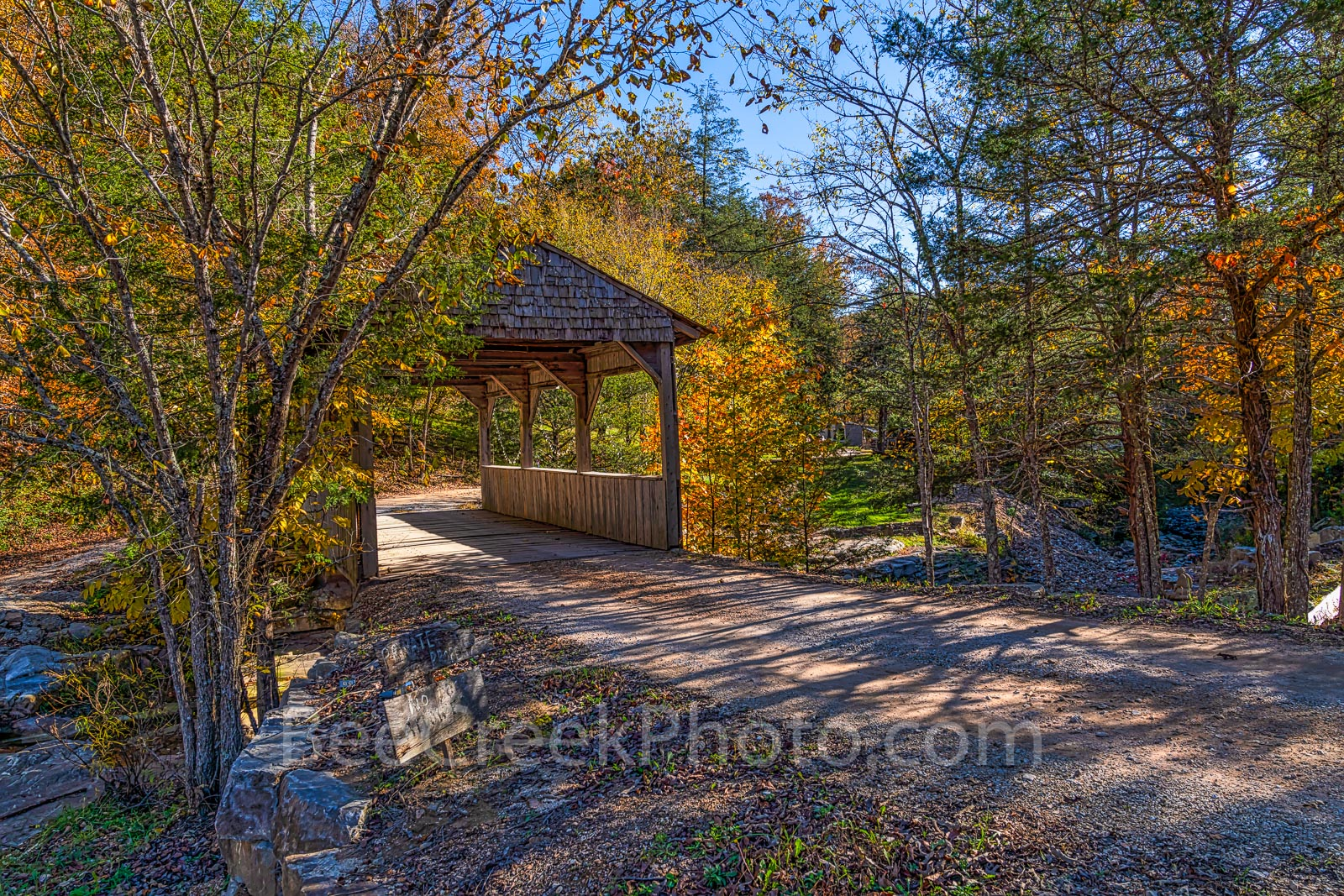 Ozark, covered bridge, fall, autumn, scenic, scenery, rural, scene, arkansas, October, bridge, buffalo river, Ozarks National Forest, maples, orange, green, water,