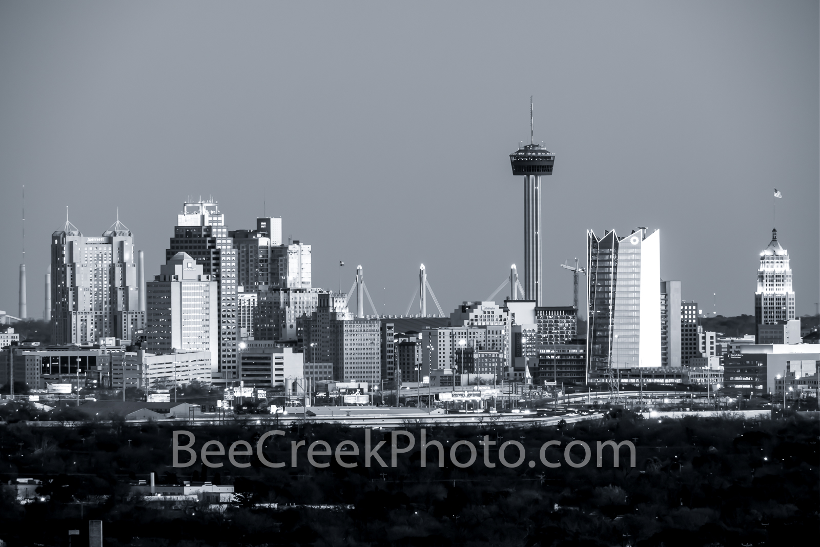 San Antonio Skyline B W - This is San Antonio Skyline in black and white with all the latest buildings including the new Frost...