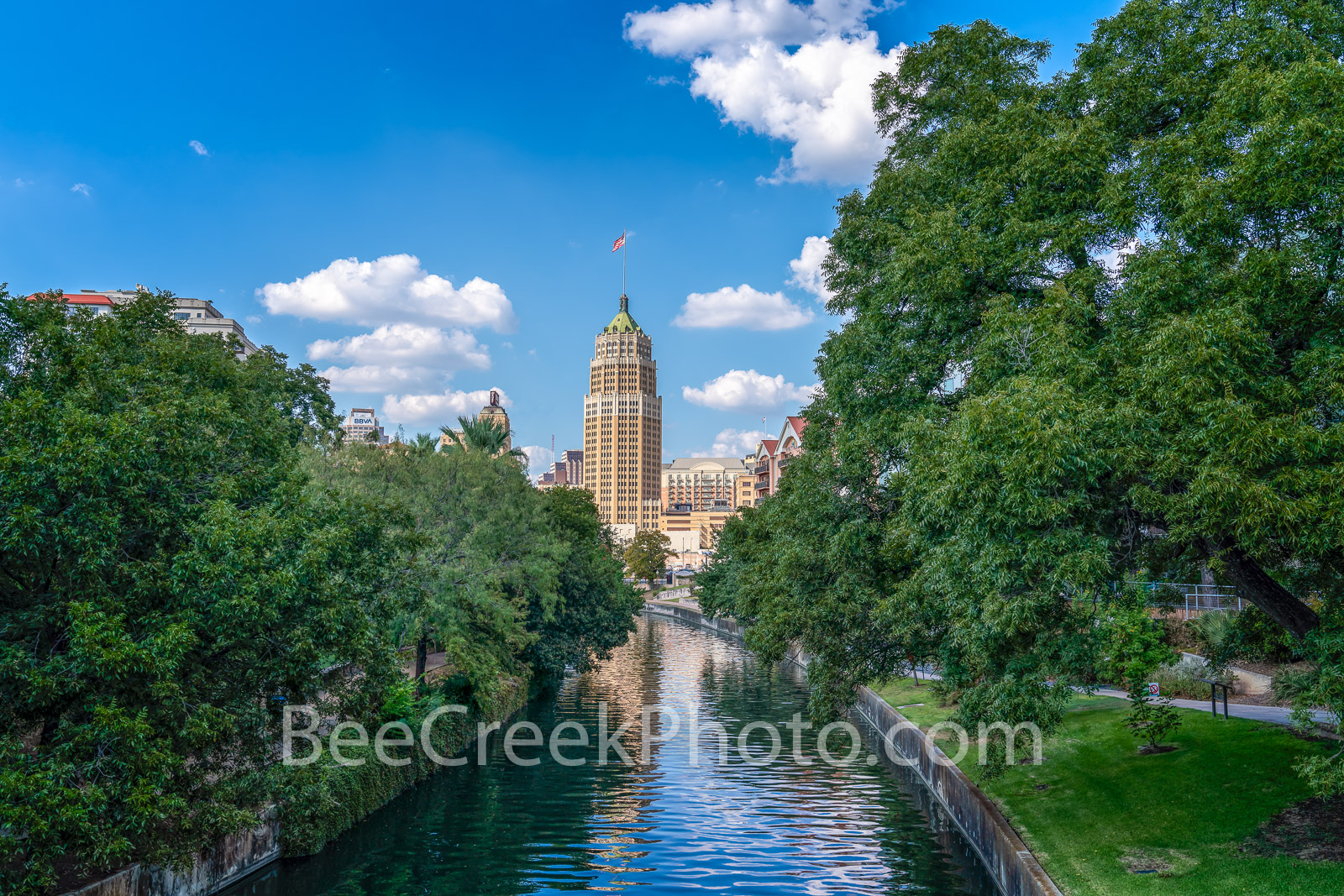San Antonio Tower Life - San Antonio images on prints, canvas and metal. We capture this view of the Tower Life building looking...