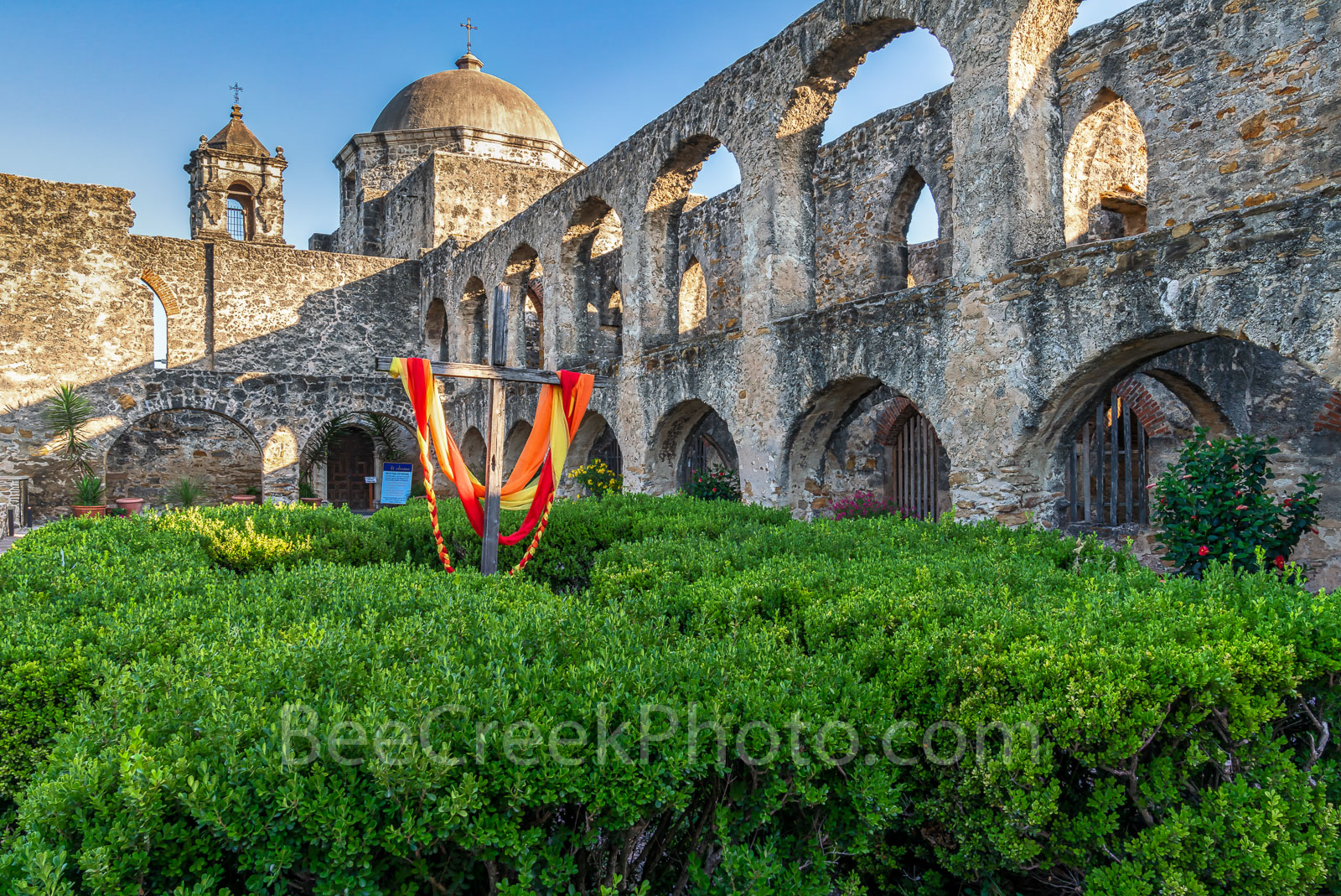 San Antonio, historic, landmarks, mission, missions, Flying Buttresses, Mission San Jose, holy cross, San Antonio Texas, downtown, tourism, tourist, travel, images of missions, photos of missions, pic, photo