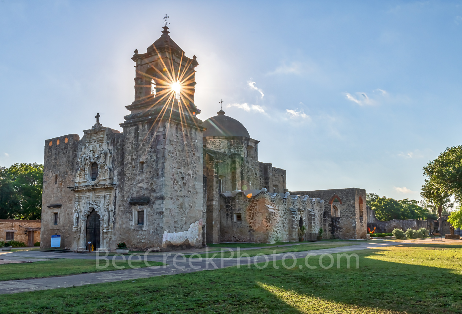 MIssion San Jose, San Antonio Missions National Historical Park, indians, Coahuiltecan tribe, star burst,, photo