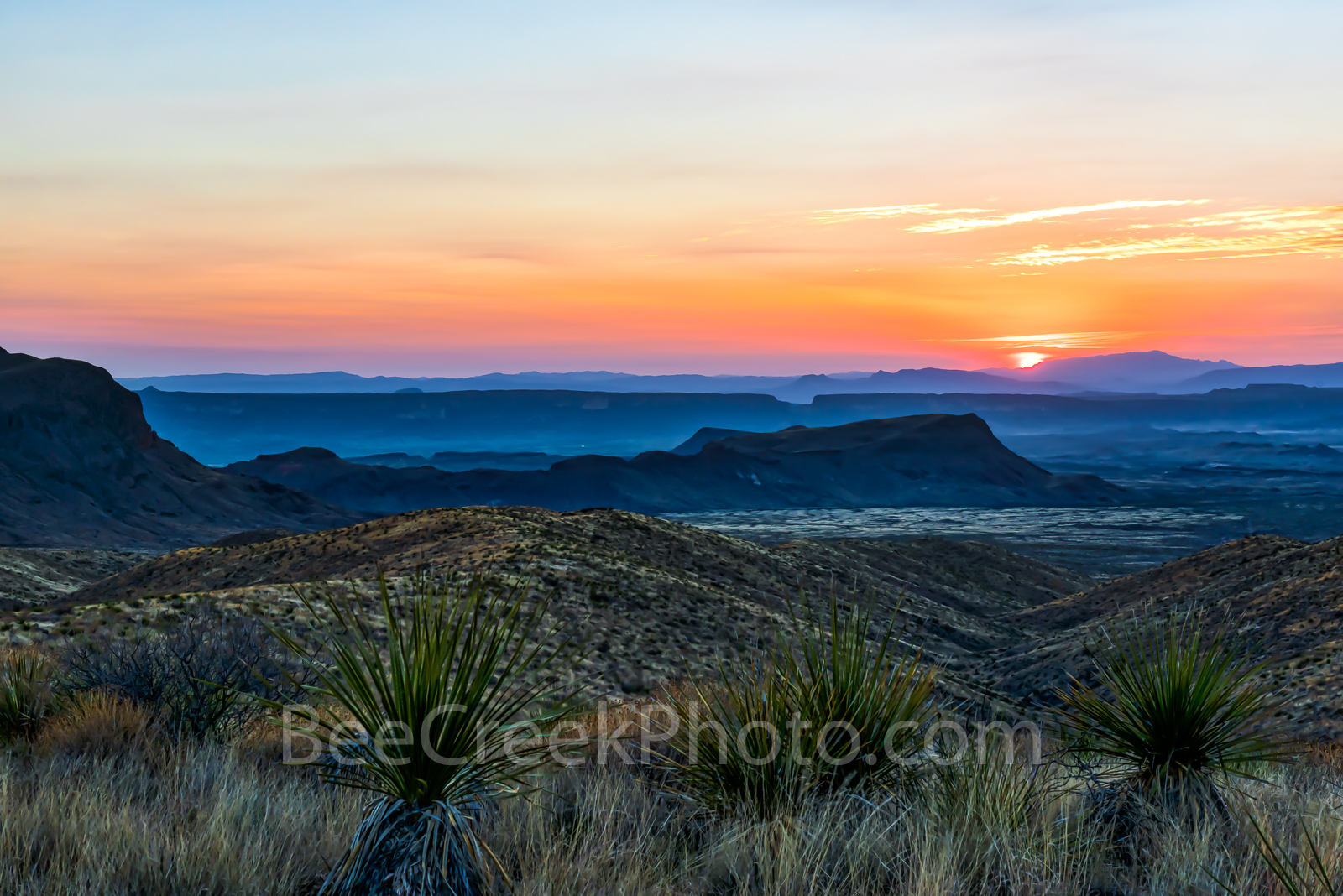 Big Bend National Park, Chihuahuan Desert, Santa Elena Canyon,  mountains, Mountains, Sierra Ponce, Sotol Vista Overlook, colorful, landscape, sky, sotol, sunset, yuccas, scenic, Texas, scenery, trave, photo