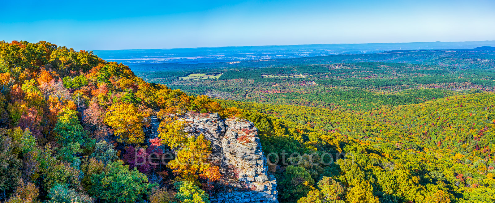 scenic, national forest, Ouachita, wilderness, fall, scenery, valley, limestone, arkansas, southern us, trees, maples, cedars, pines, hickory, distant views, aerial, pano, panorama, panoramic, fall sc, photo