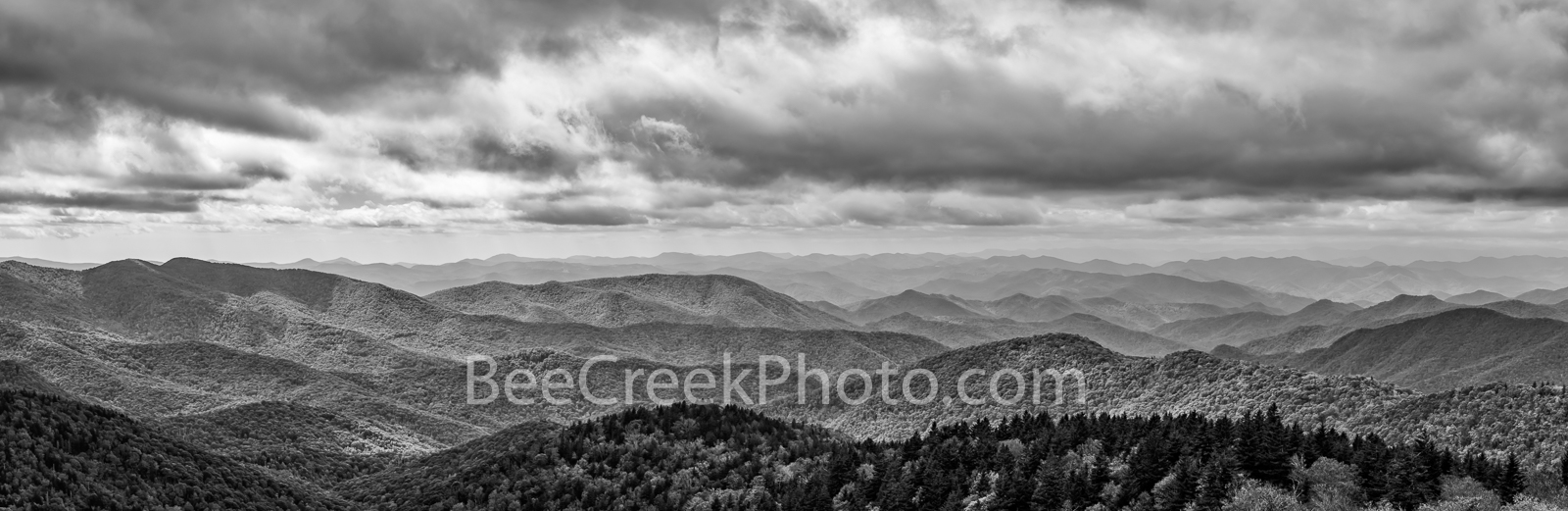 smokies, smoky mountains, north caroline, cloudy, skies, blue ridge mountain, great smoky mountains national park, bw, black and white, national park, landscape, scenic, nc, tn, ridges, outdoors, fall, photo