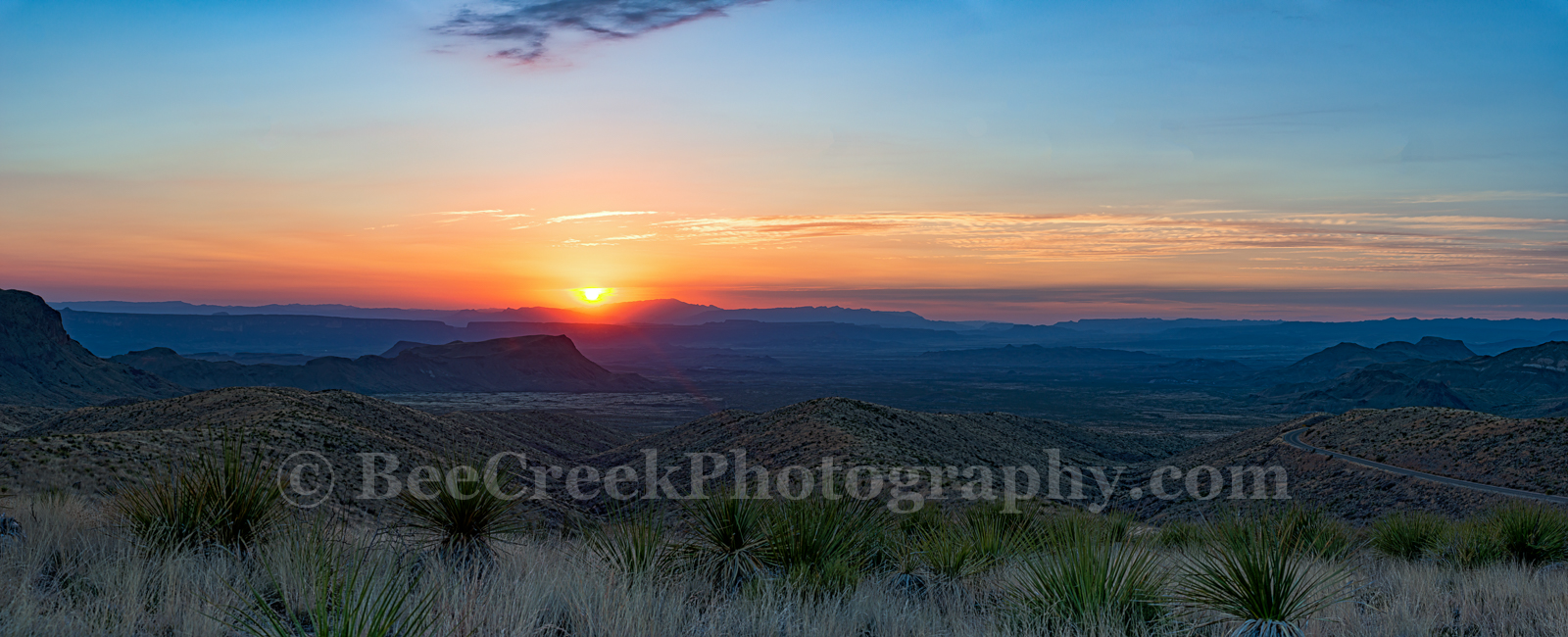 Big Bend National Park, Chihuahuan Desert, Dead Horse mountains, Leisure, Sierra Ponce, Sotol Vista Overlook, colorful, landscape, lifestyle, pano, panorama, sky, sotol, sunset, texas, tourism, travel, photo