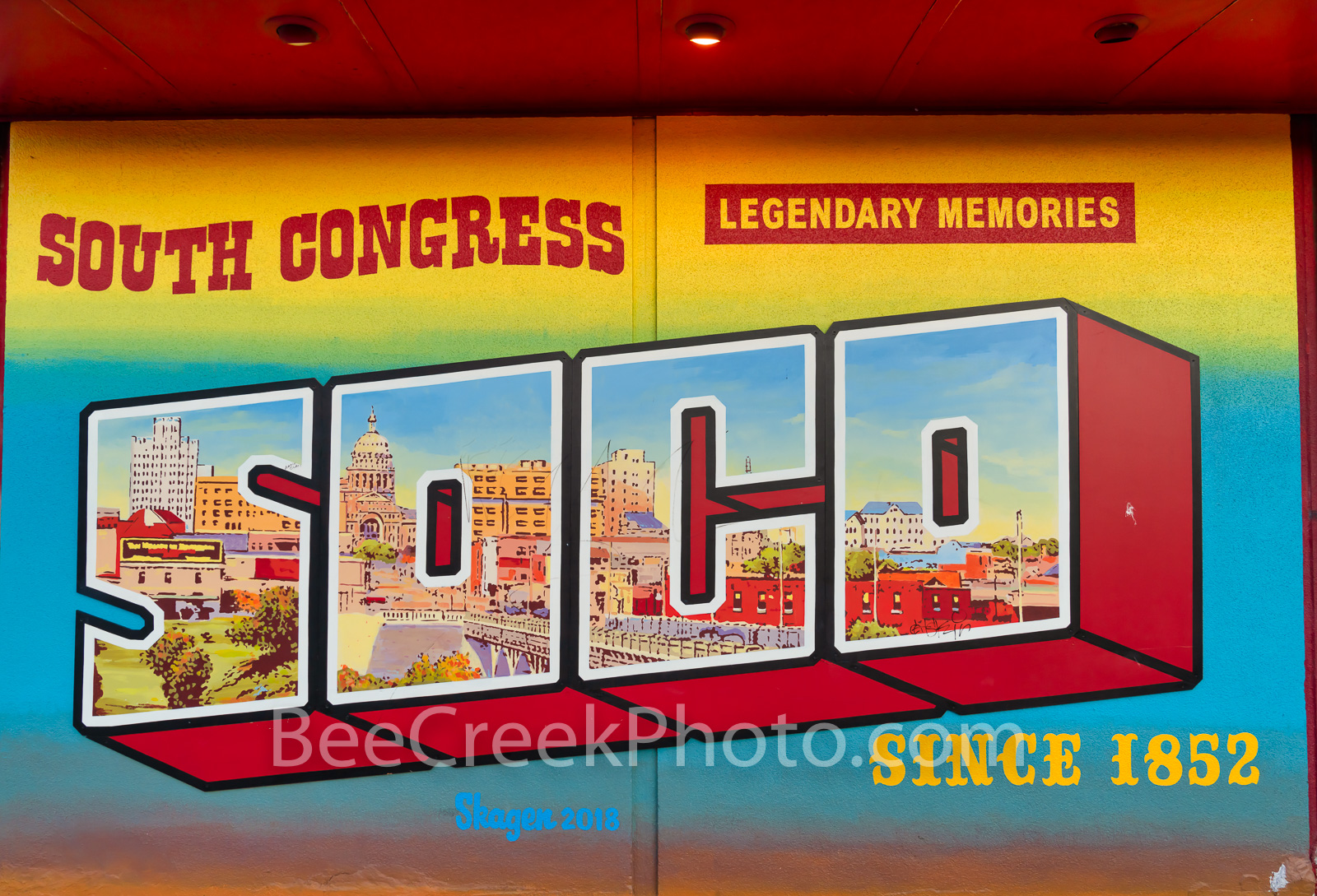 South Congress Mural - This is the mural in the SOCO or South Congress area. South South Congress is an area that about twenty...