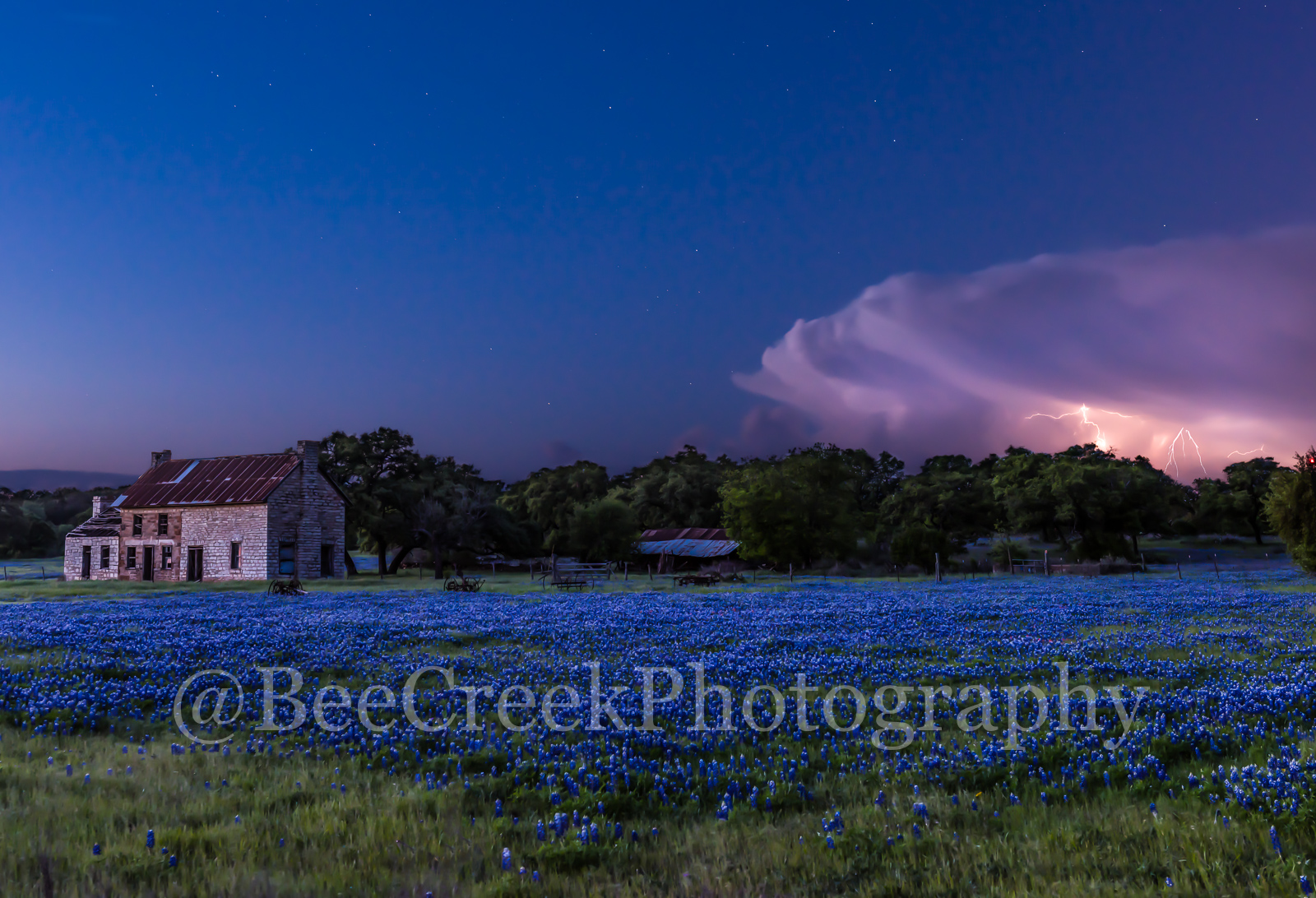 bluebonnets, blue bonnets, bluebonnet house, Marble falls, lightning strike, storm clouds, stormy, old farm house, Texas hill country., hill country, wildflowers, spring, storm cloud,