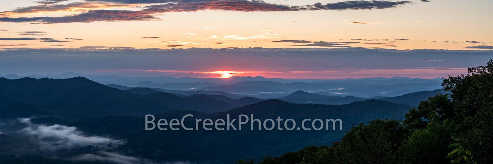 Sunrise, Blue Ridge Mountains, smoky mountains, blue ridge parkway, smoky national park, north carolina, Tennessee, pano, panorama, great smoky mountains, landscape, applachians, mountains, scenic, ov, photo