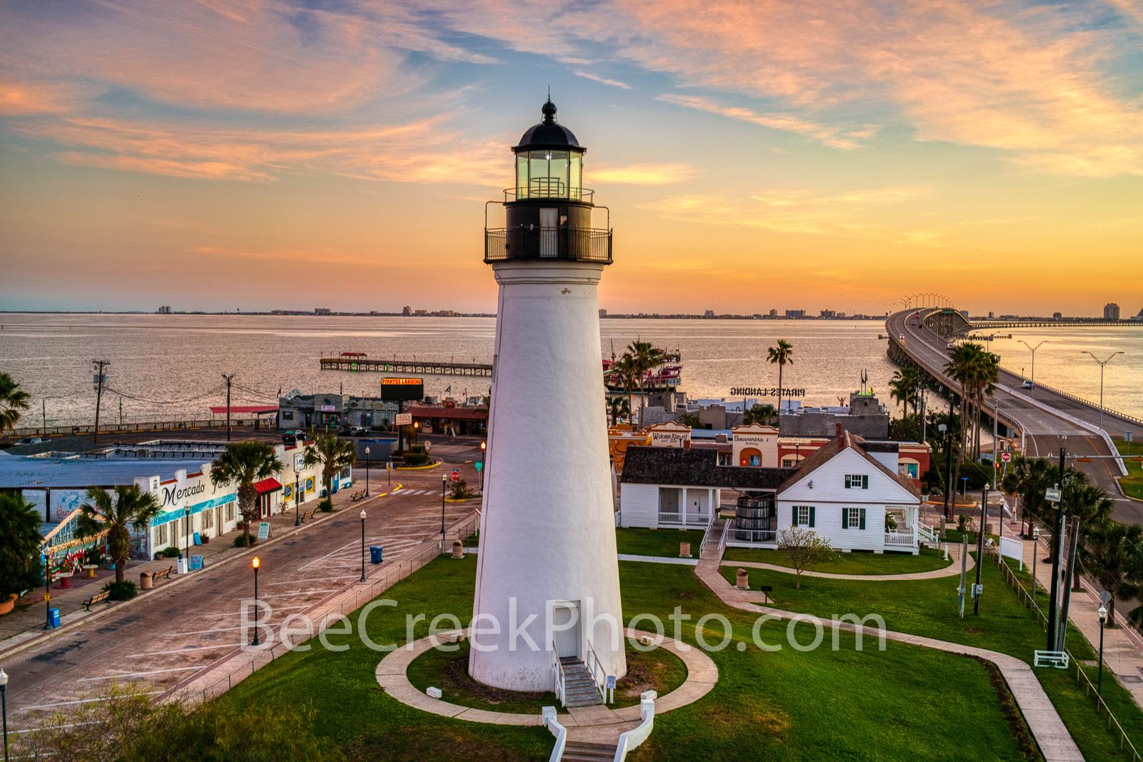 Port Isabel Lighthouse, sunrise, port isabel, landmark, historic, city, lighthouse keepers cottage, coastal, south padre island, beach, coast, queen isabela causeway, bridge, valley, south texas,