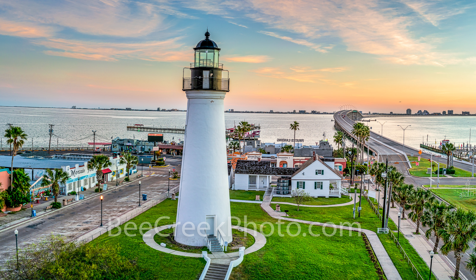 Sunrise at Port Isabel Lighthouse - Port isabel lighthouse was built in 1852 for the sea capitains to help them navigate the...