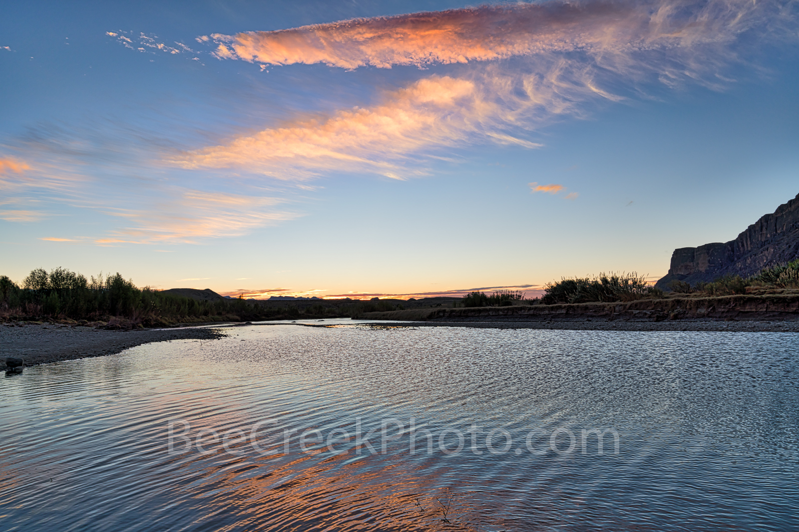 Sunrise, Rio Grande river, Big Bend National Park, Big Bend, color, water, reflected, Santa Elena Canyon, texas landscape, texas sunrise,, photo