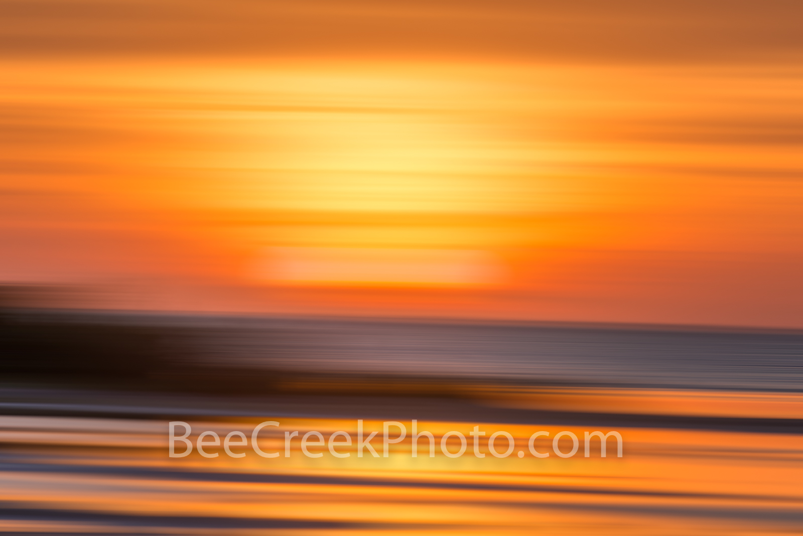 Surreal Coastal Sunset Glow - As the sunsets over the coastal flats we created this digital abstract of the flats over Laguna...