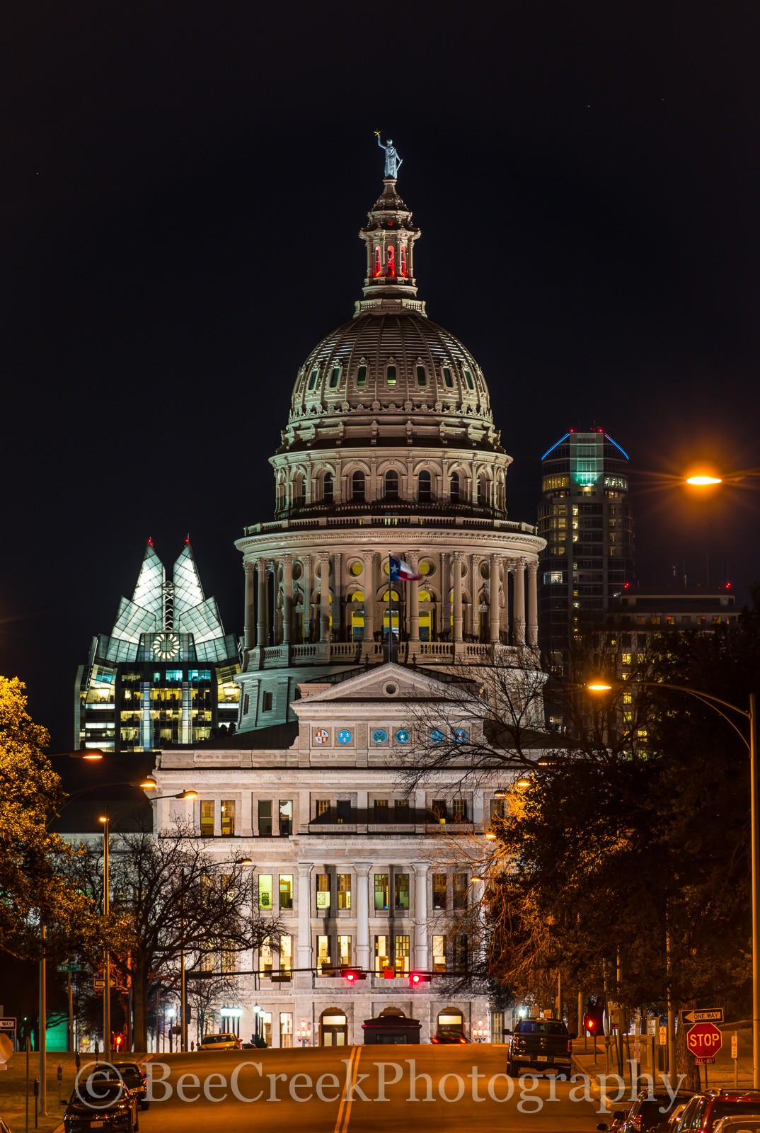 Austin, Texas Capitol, Texas state capital, texas state capitol, city, cityscape, cityscapes, skyline, downtown, Capital view, north congress, street,, photo