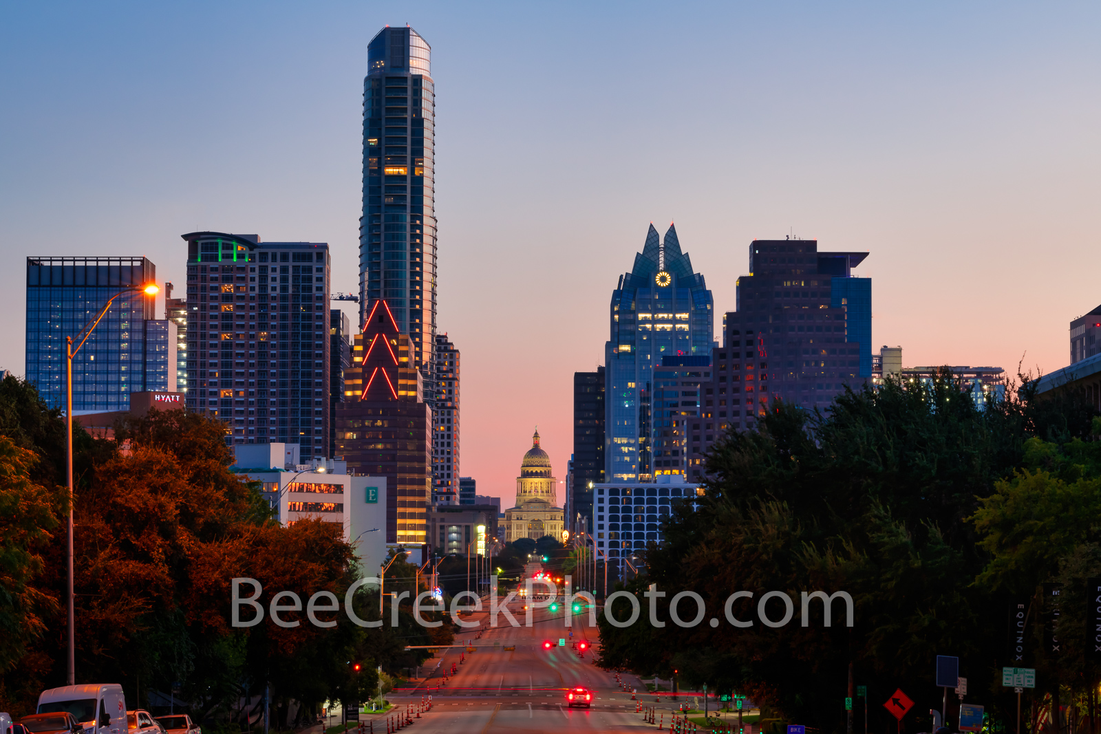 austin, texas, austin skyline, sunrise, austin sunrise, austin downtown, austin texas, downtown austin, austin texas, soco, austin soco, south congress, texas capitol, congress, frost tower, austonian