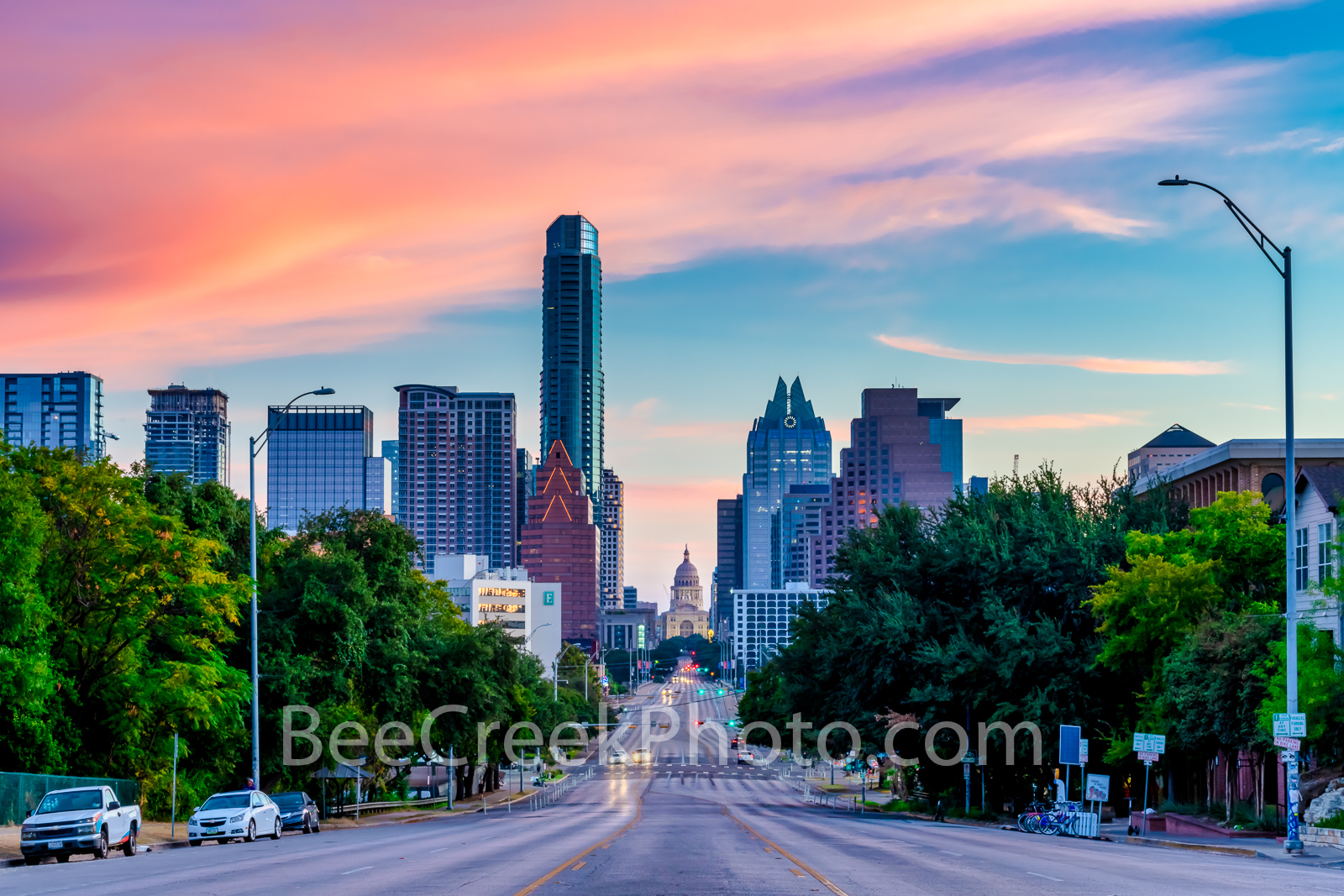 Texas Capitol Sunrise from SOCO  - This is the wider view we got this morning at sunrise from Austin soco area or South Congress...
