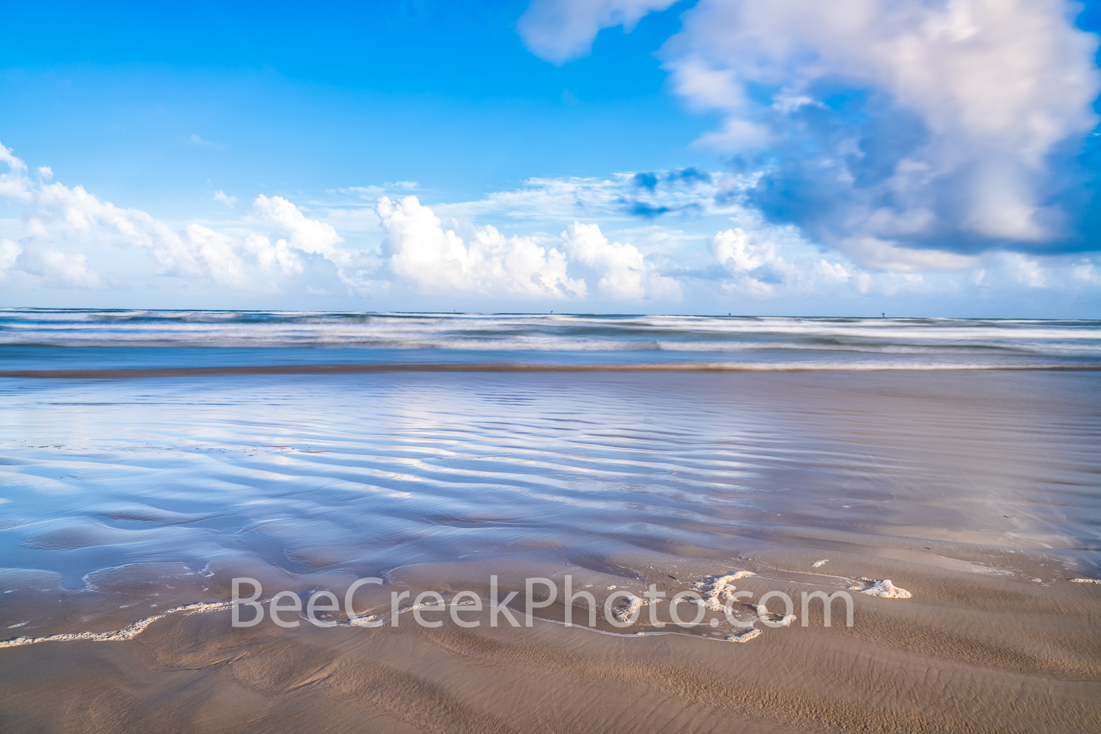Texas Coast Beach -  What more can I say sand, surf, and sky is all you need to see along the Texas coast.  This is mustang island...