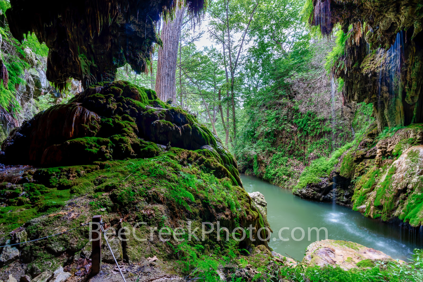Texas Hill Country Grotto - From behind the grotto you can see what seems to be a tropical rain forest yet it is located in the...