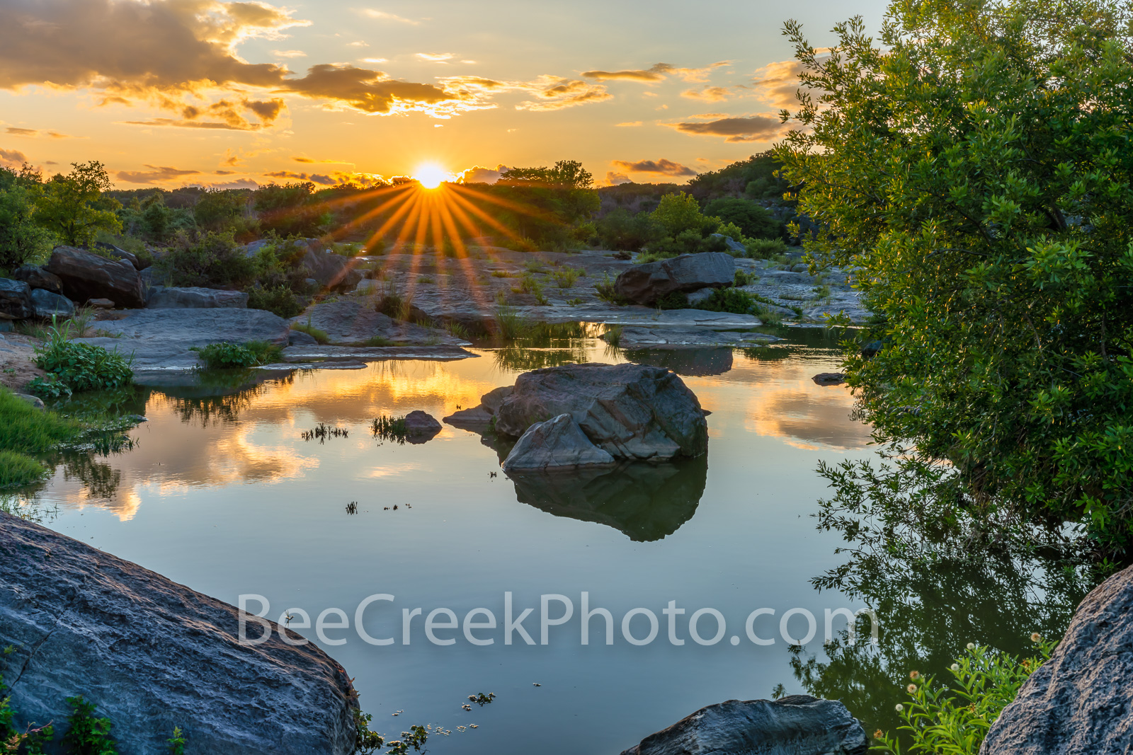 Texas Hill Country Sunset at Pedernales Falls - After taking some images at Pedernales Falls along the rapids I came across this...