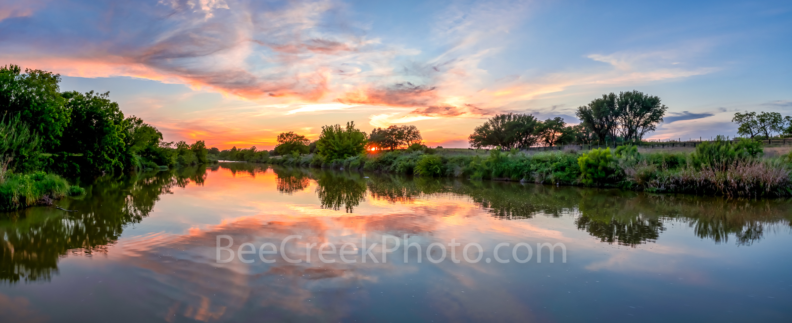 Texas Hill Country Sunset, Texas Hill country, sunset, Pedernales river, landscape, panorama, pano, water, river, trees, rurals, Colorado river, centrral texas, hill country, Texas. rural,LBJ Ranch, J