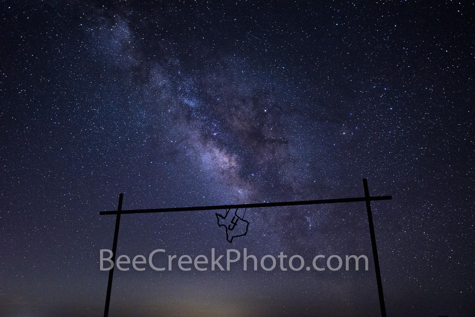 Astronomy, astrophotography, milky way, celestial, gate, ranch, dark,  gallaxy solar system, night, night landscape, night landscapes, night photo, star images, starry, Texas, milky way in texas, Texa, photo