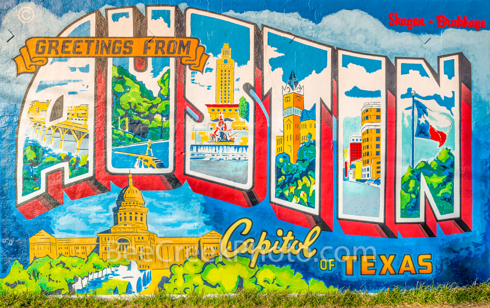 Austin Mural - This Austin mural was taken off of a wall off of south 1st street in austin.   It is a rather popular spot for...