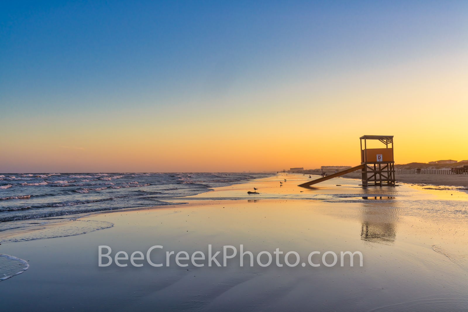 Tranquility at Dusk, Port Aransas Beach  - This was the scene at Port Aransas beach at dusk or the blue hour which was right...