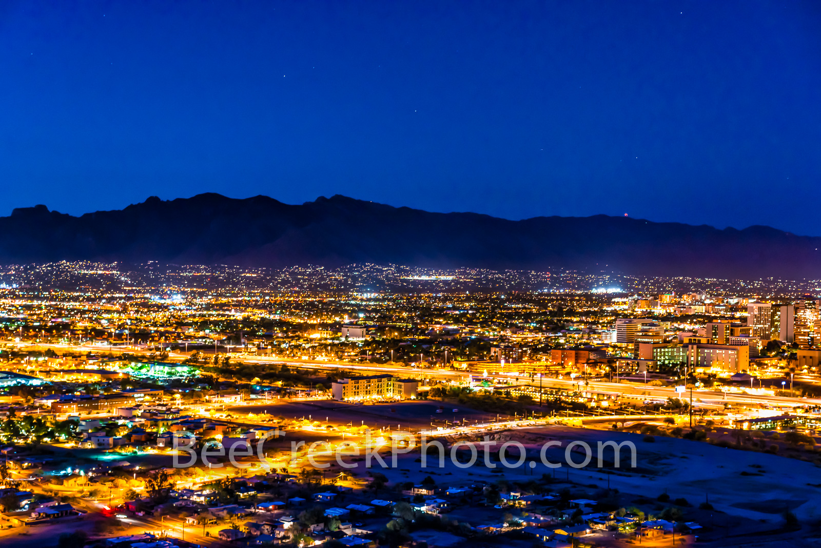 Tucson, night, View of Tucson, cityscape, downtown, city,  images of Tucson, photos of Tucson, pictures of Tucson, photographs of Tucson, Tucson mountains, Tucson skyline, Tucson cityscape, Tucson, Ar, photo