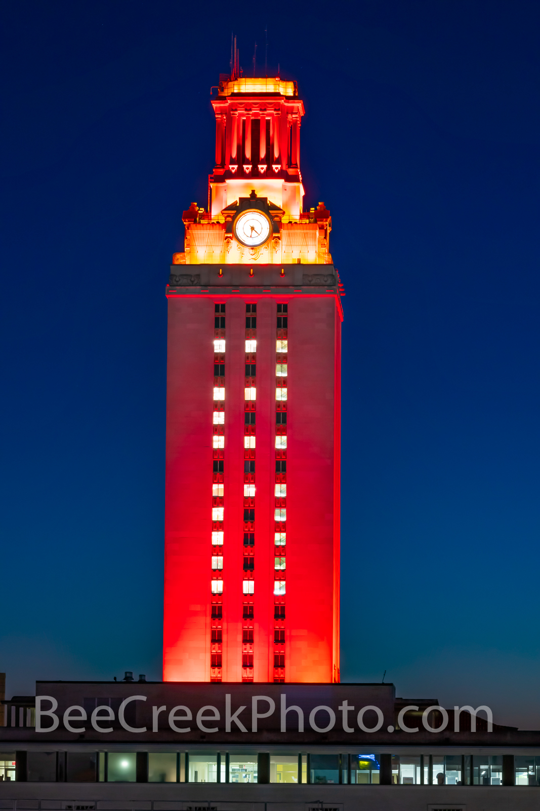 U T Tower 2020 Vertical - The U T Tower was in full burnt orange color for the graduation class of 2020 in downtown Austin Texas...